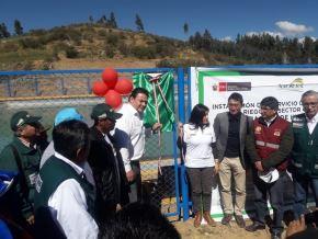 Viceministro de Desarrollo e Infraestructura Agraria y Riego, Pablo Araníbar, inaugura obras en Ancash. Foto: Cortesía.