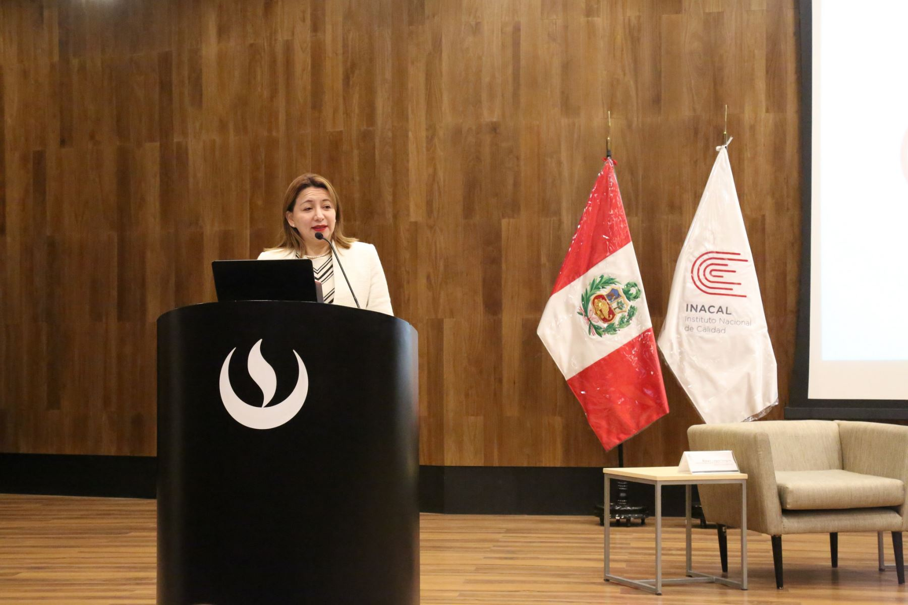 Presidenta ejecutiva de Inacal, Rocío Barrios. Foto: Andina/Difusión