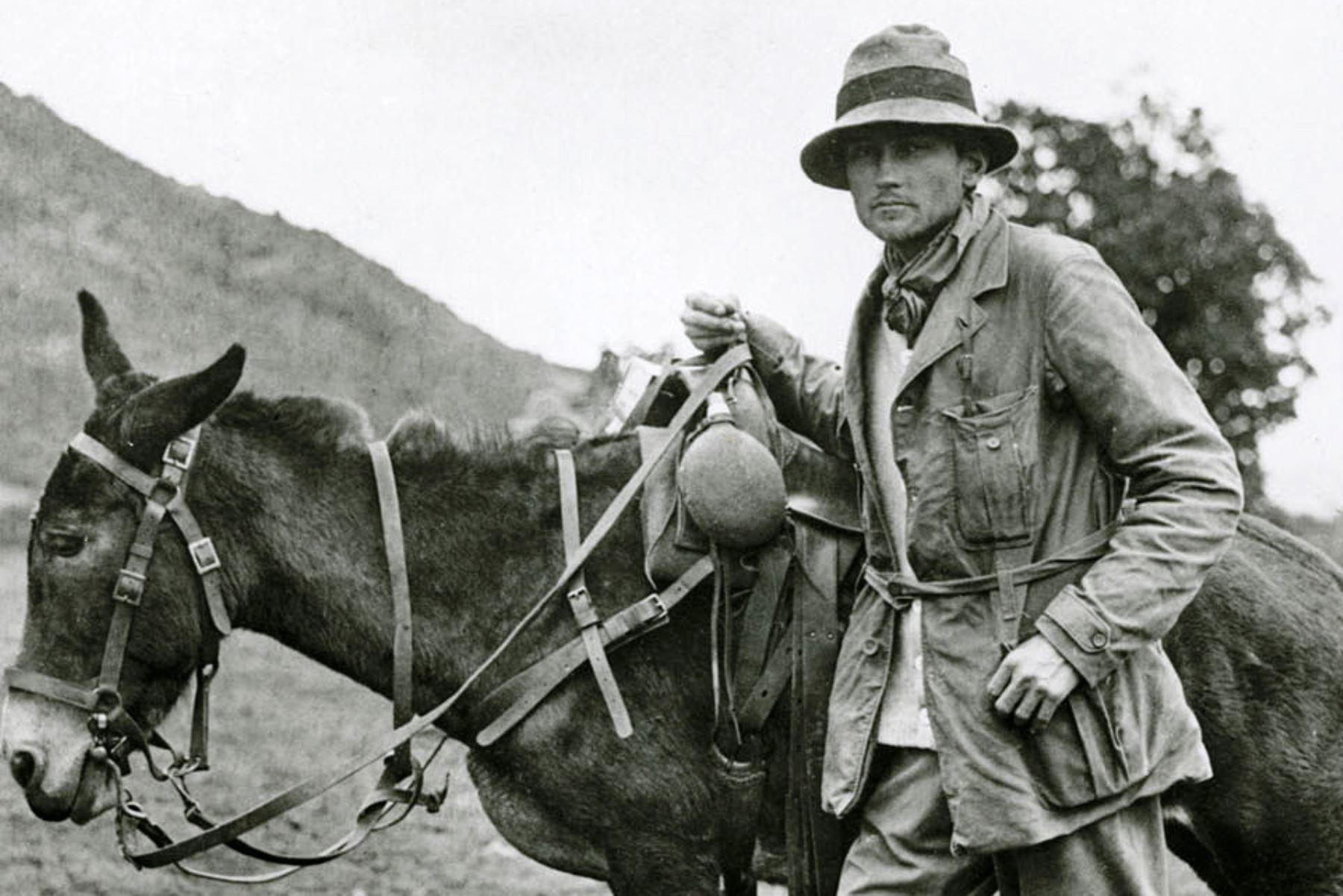 Una fotografía sin fecha del aventurero y arqueólogo estadounidense Hiram Bingham. AFP