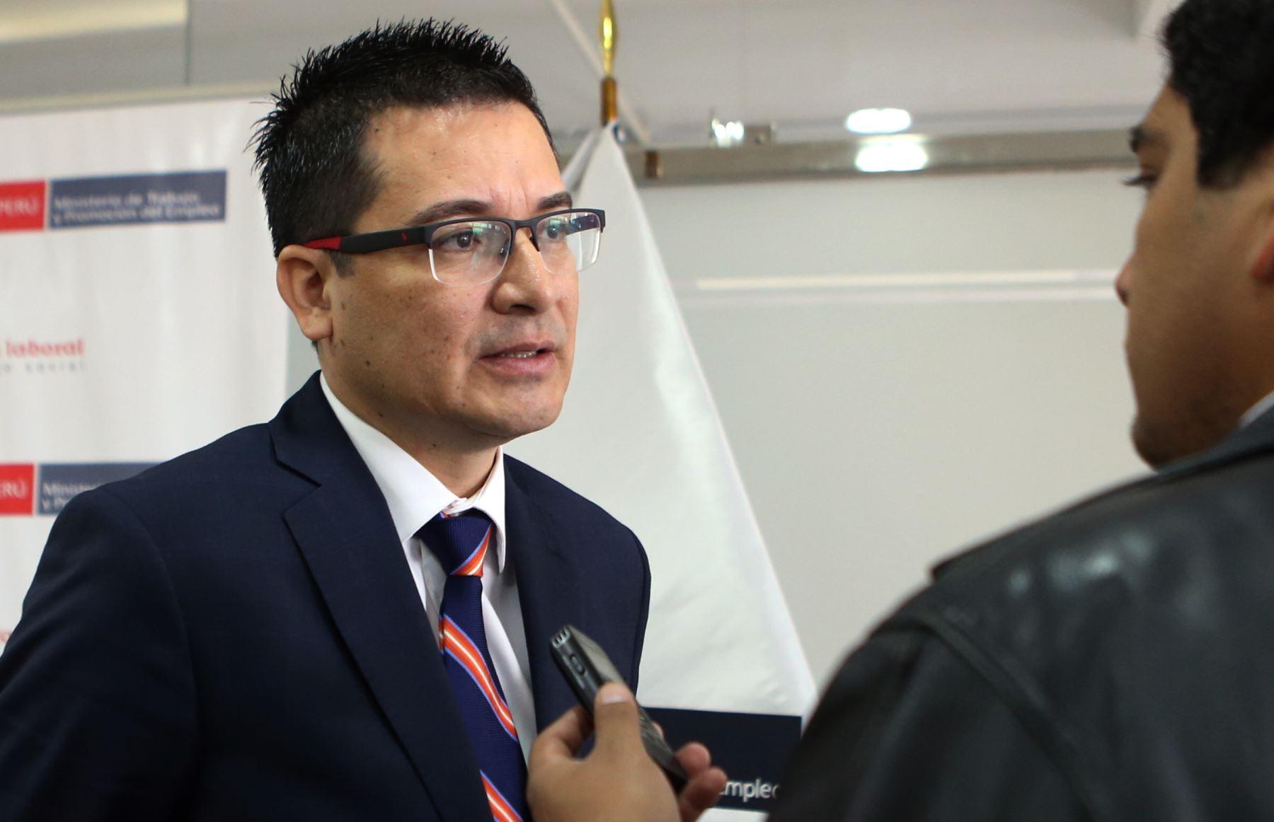 Viceministro de Trabajo, Ítalo Mórtola Flores. ANDINA/Difusión
