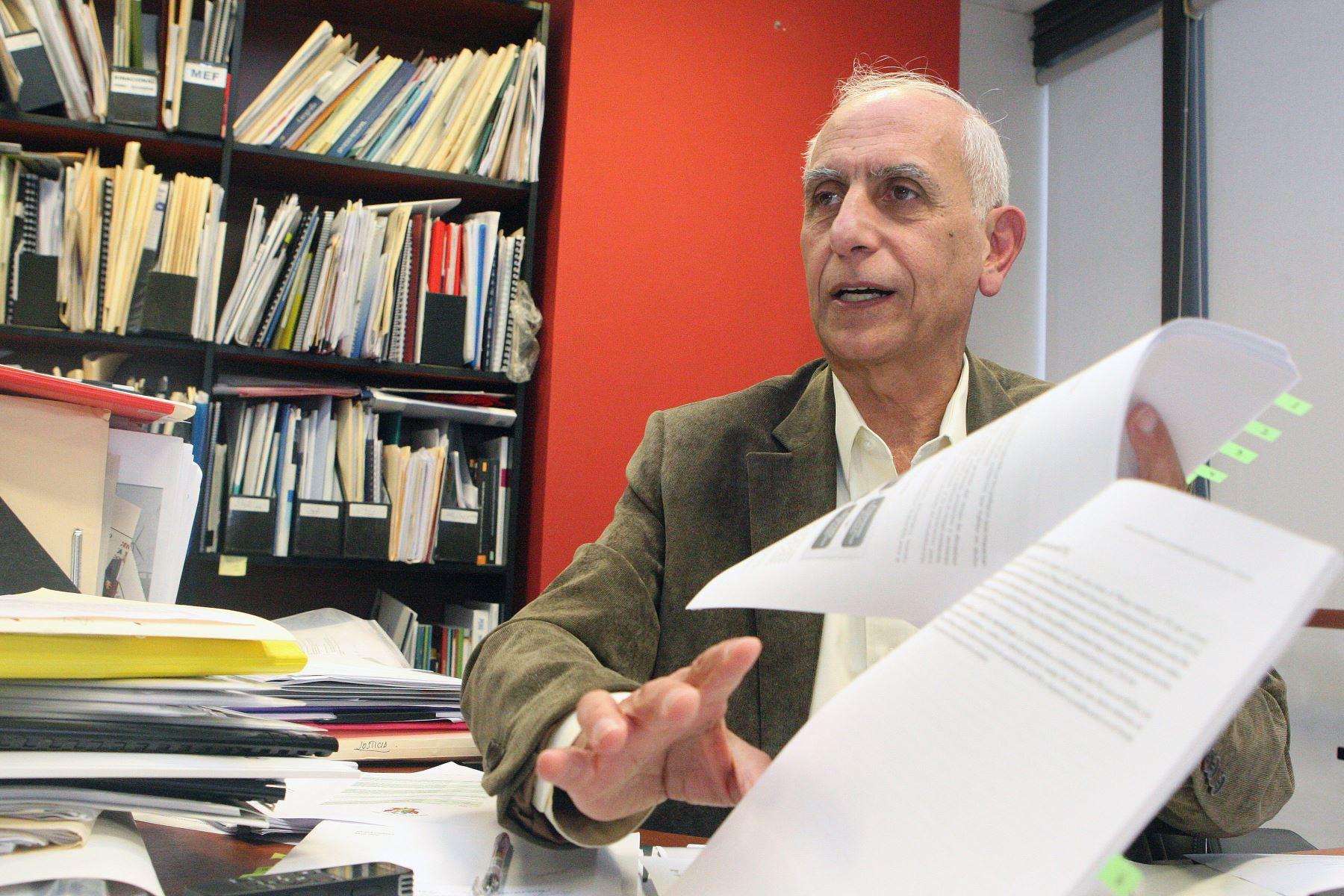 Presidente de Ceplan, Javier Abugattás. ANDINA/Héctor Vinces