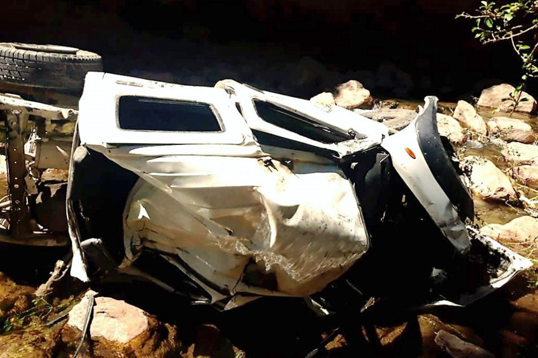 ANDINAPatrullero cae a abismo en Pasco y deja tres policías heridos de gravedad. ANDINA