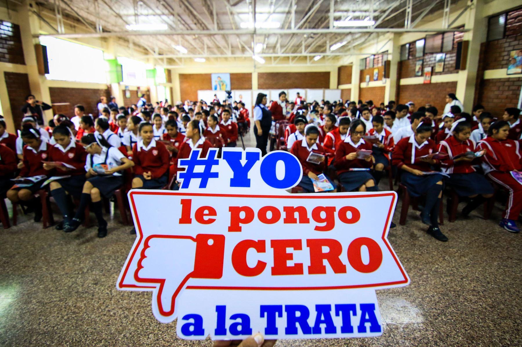 Ministerio de Justicia sigue desarrollando campañas preventivas contra la trata. Foto: Andina/Difusión