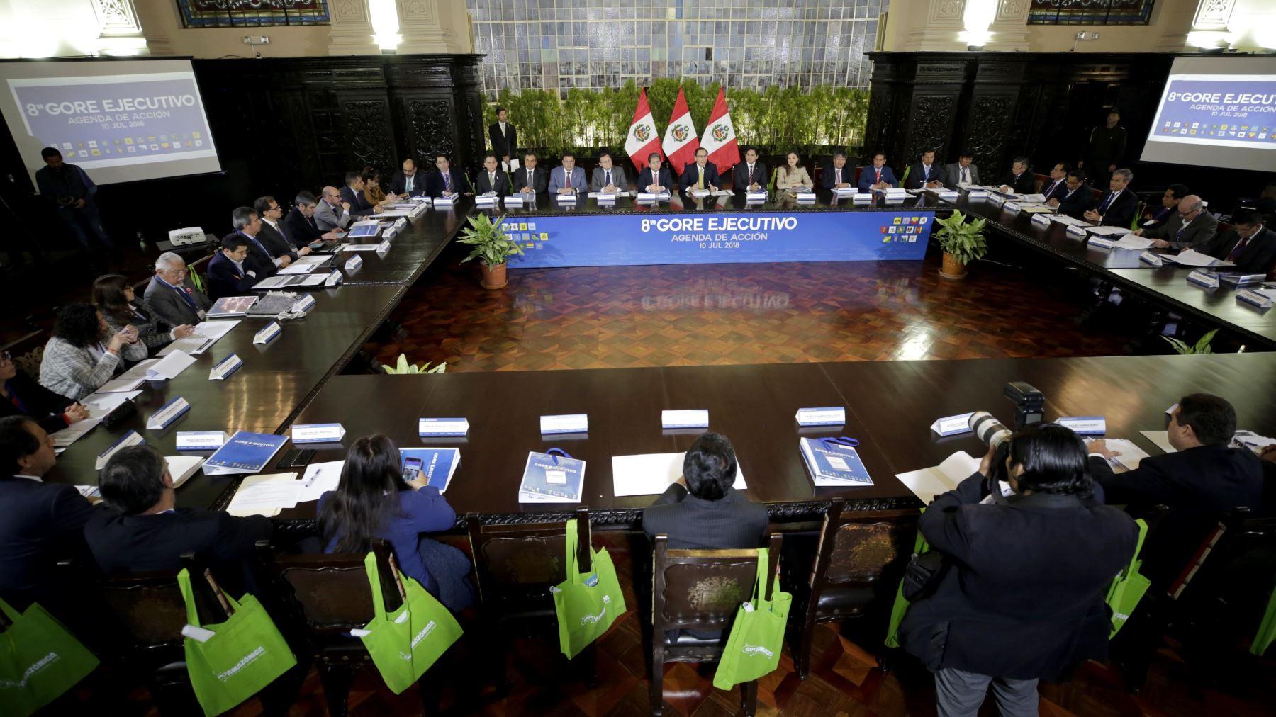 Bicentenario: habrá Gore-Ejecutivo con nuevas autoridades y se instalará comisión regional. ANDINA/Difusión