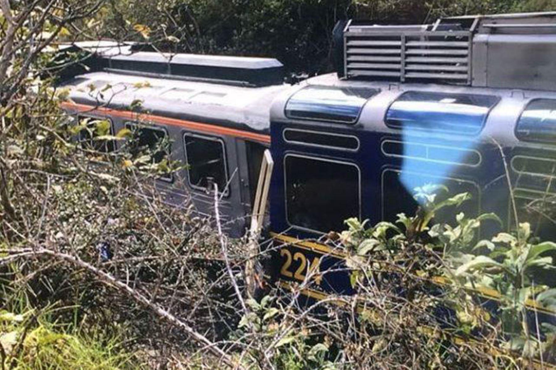 Reportan choque de trenes en vía a Machu Picchu. Foto: Cuscoen Portada/Facebook