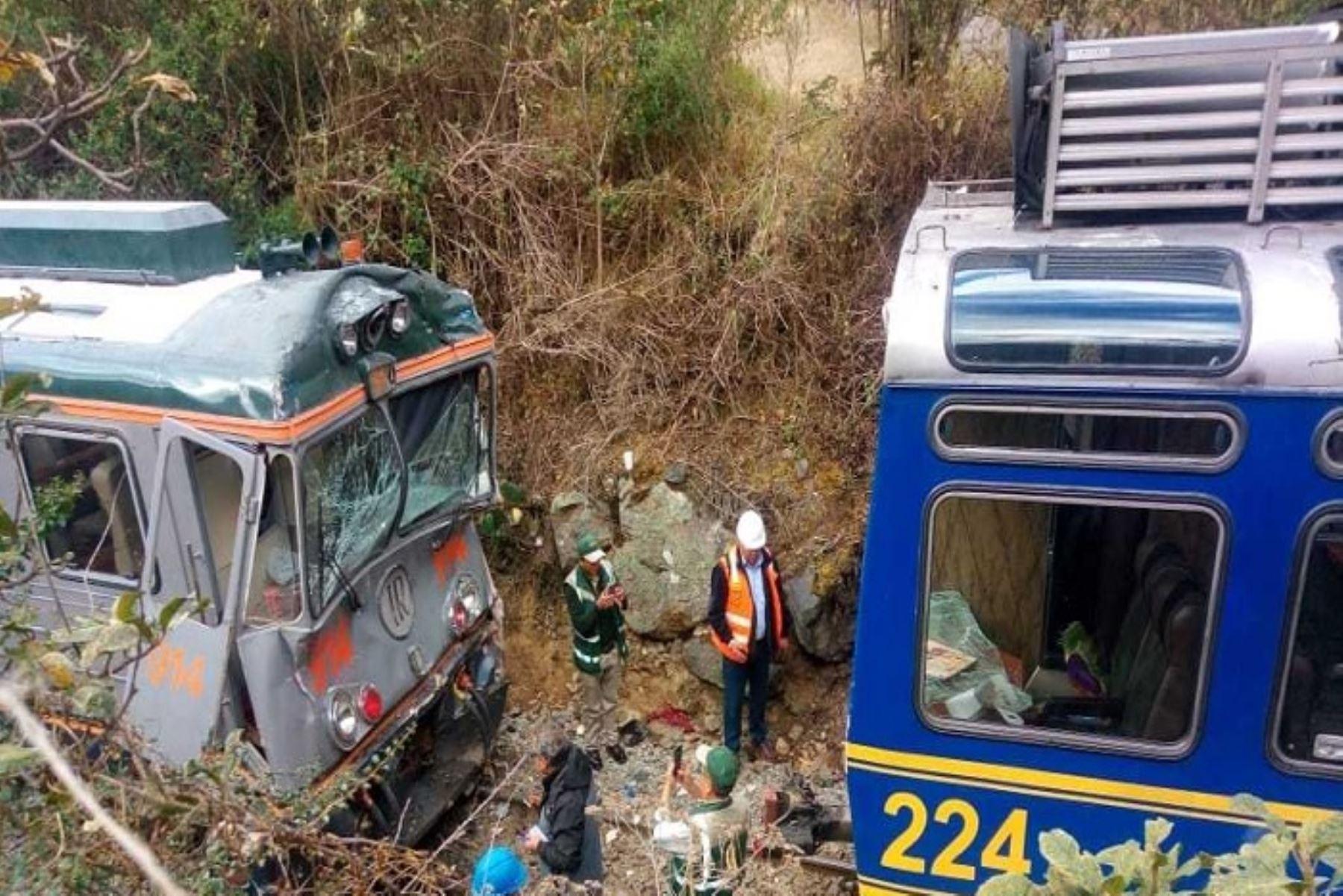 La Policía Nacional reveló la identidad de 17 personas que resultaron heridas, en su mayoría extranjeros, a consecuencia del choque de trenes ocurrido esta mañana en la vía férrea Ollantaytambo- Machu Picchu, en la región Cusco.
