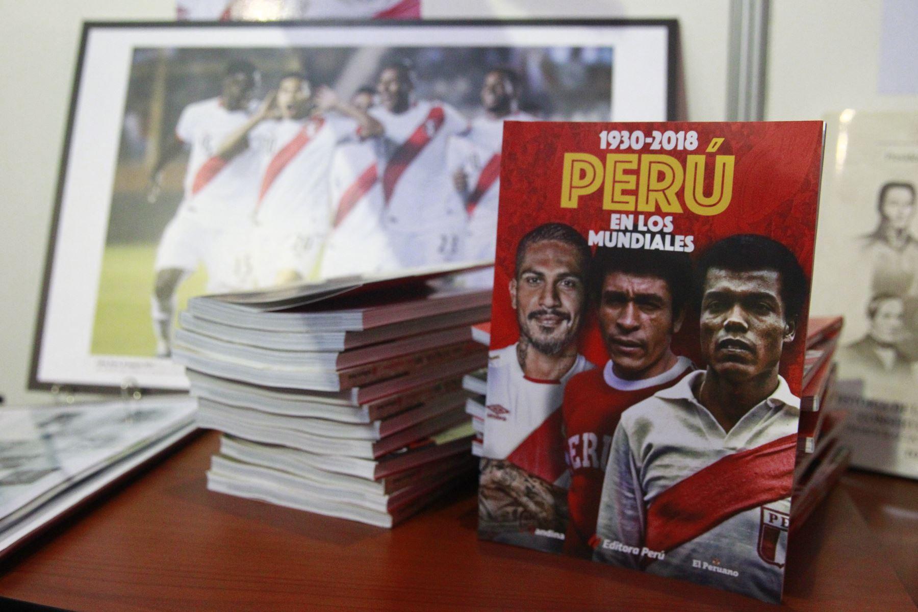 """Editora Perú presentará libro """"Perú en los Mundiales"""" en la Feria Internacional del Libro de Chiclayo. ANDINA/Eddy Ramos"""