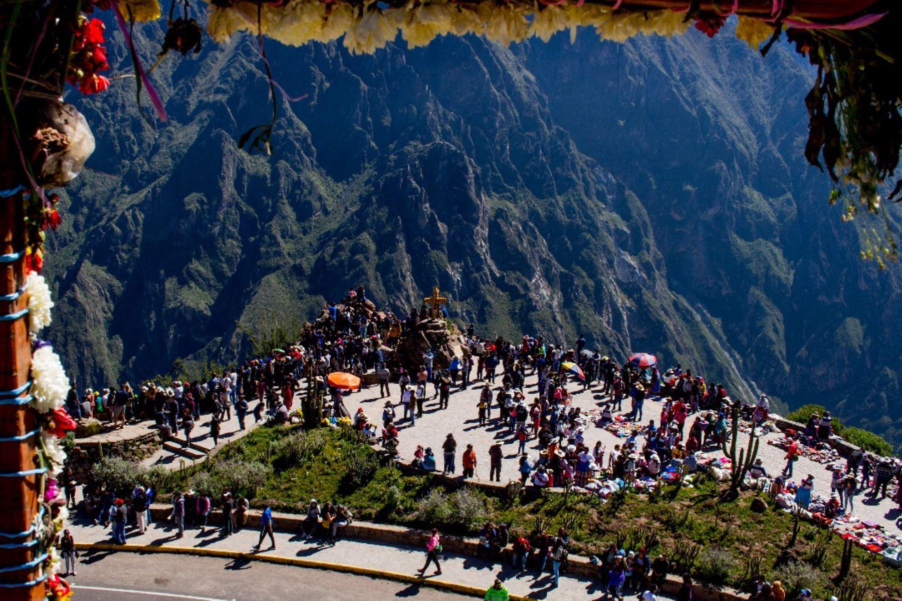 El valle del Colca, en la provincia de Caylloma, es uno de los principales destinos turísticos de Arequipa. Foto: ANDINA