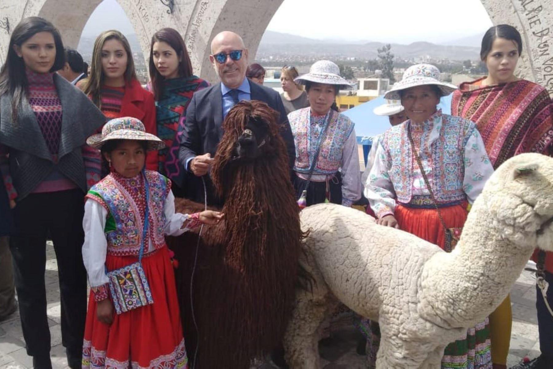 Productores, compradores, diseñadores, entre otros, reúne desde hoy Alpaca Fiesta 2018 en Arequipa. ANDINA