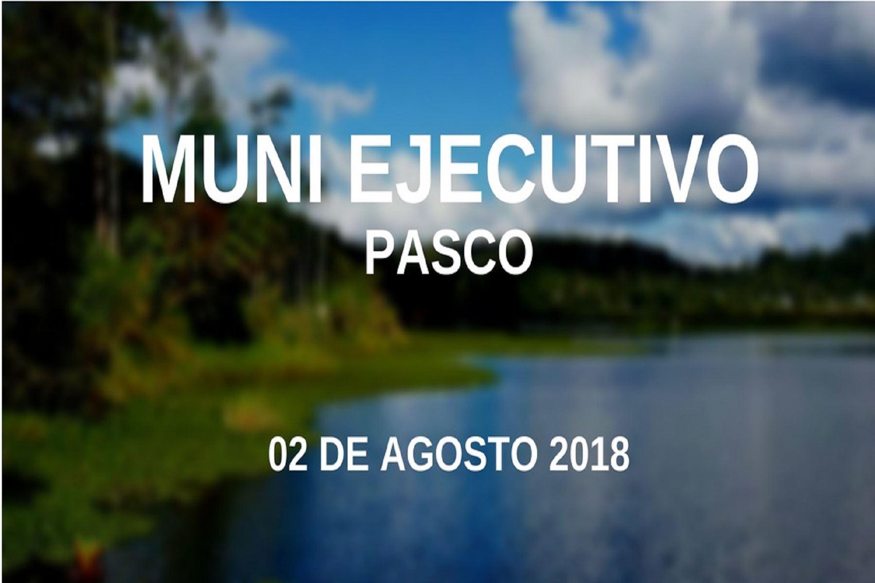 Muni-Ejecutivo en Pasco.