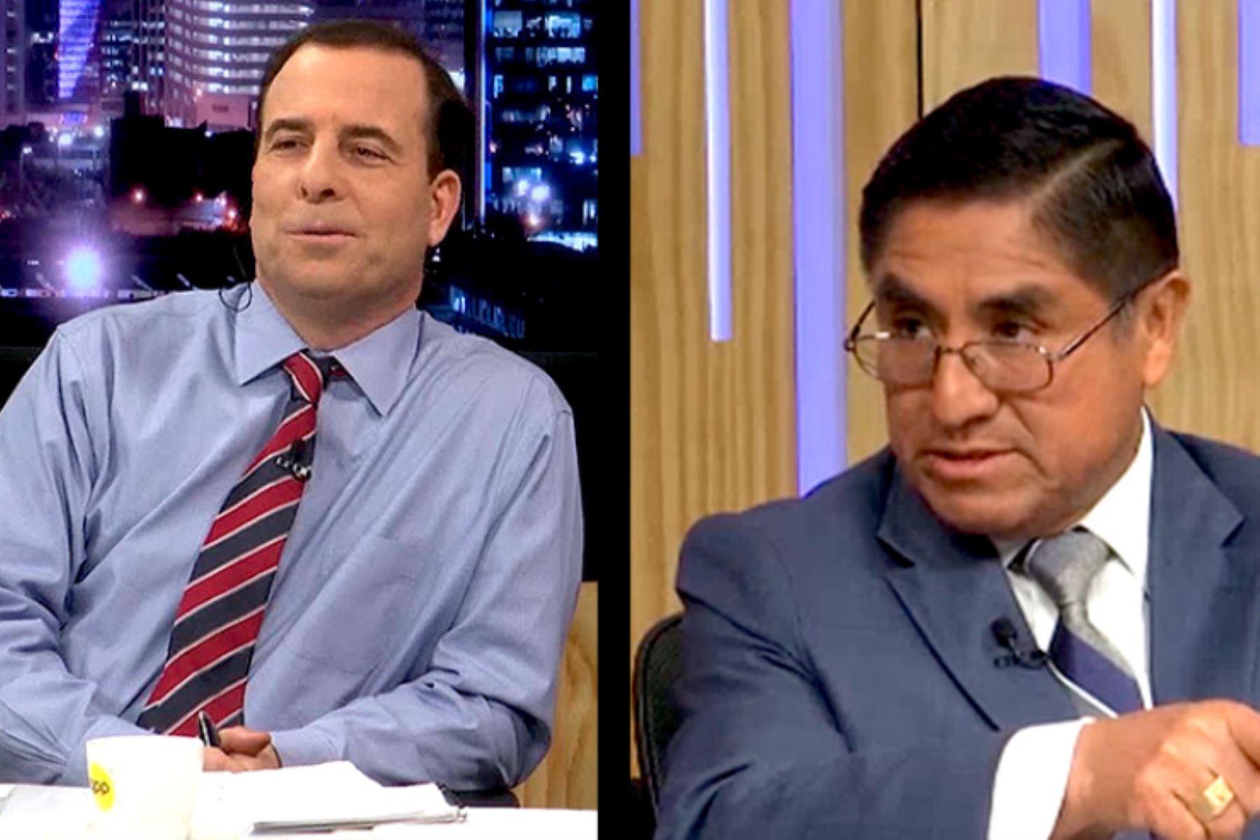 Aldo Mariátegui dice que su charla con juez Hinostroza fue intrascendente. Foto: Captura IDL-Reporteros.