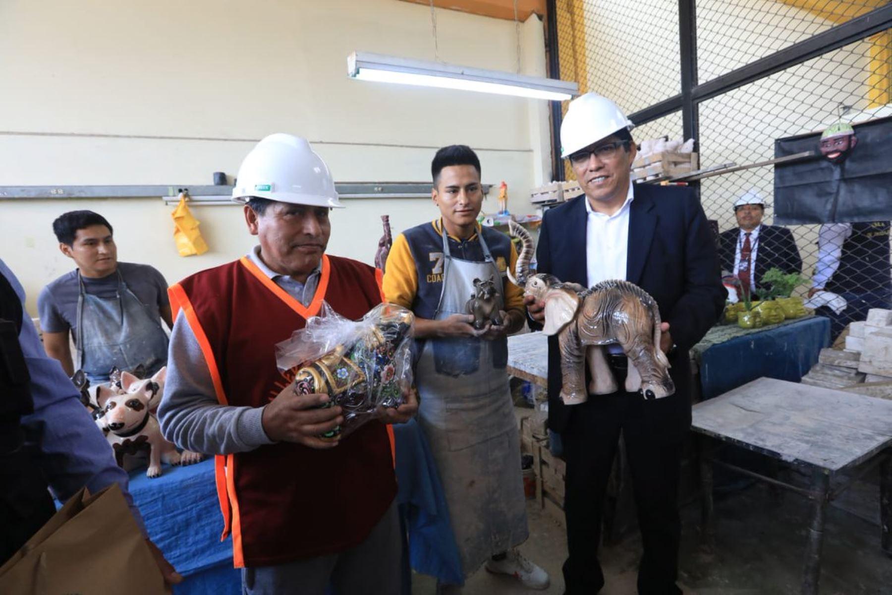 Ministro de Justicia, Vicente Zeballos, visita penal de Lurigancho.