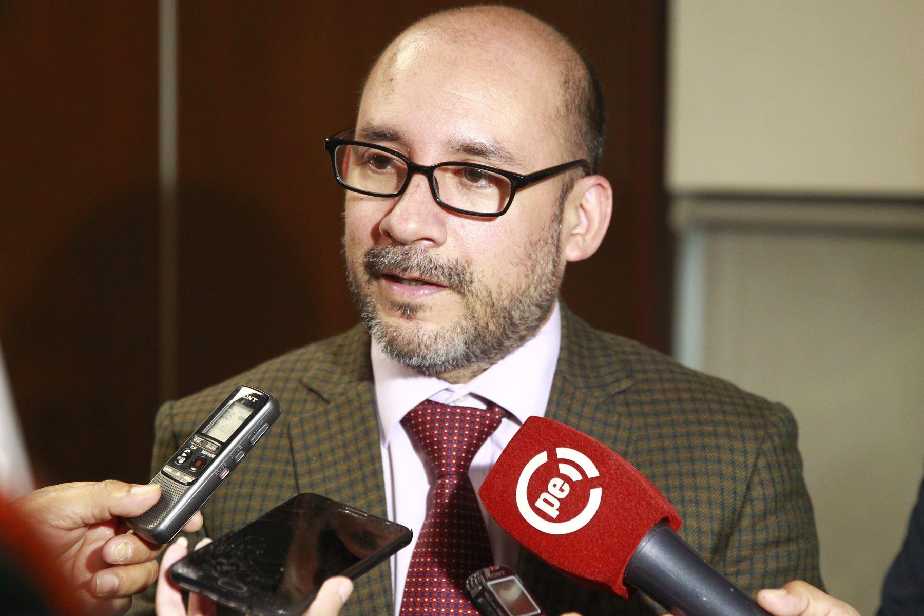 Ministro de Trabajo y Promoción del Empleo, Christian Sánchez. ANDINA/Eddy Ramos