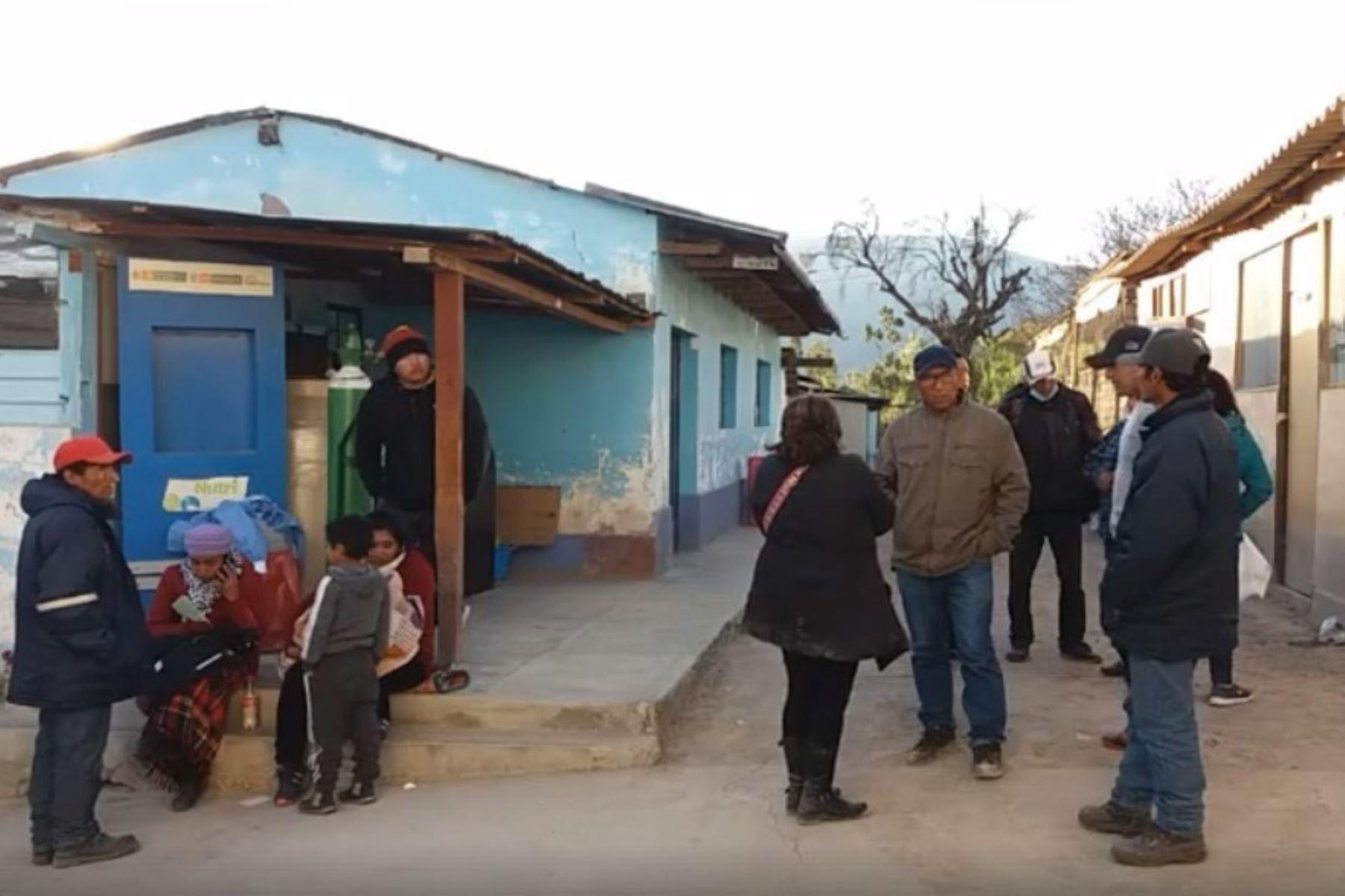 Hospital de Pauza, provincia de Páucar del Sara Sara, en Ayacucho. Foto captura: Radio Pauza en la noticia/Facebook