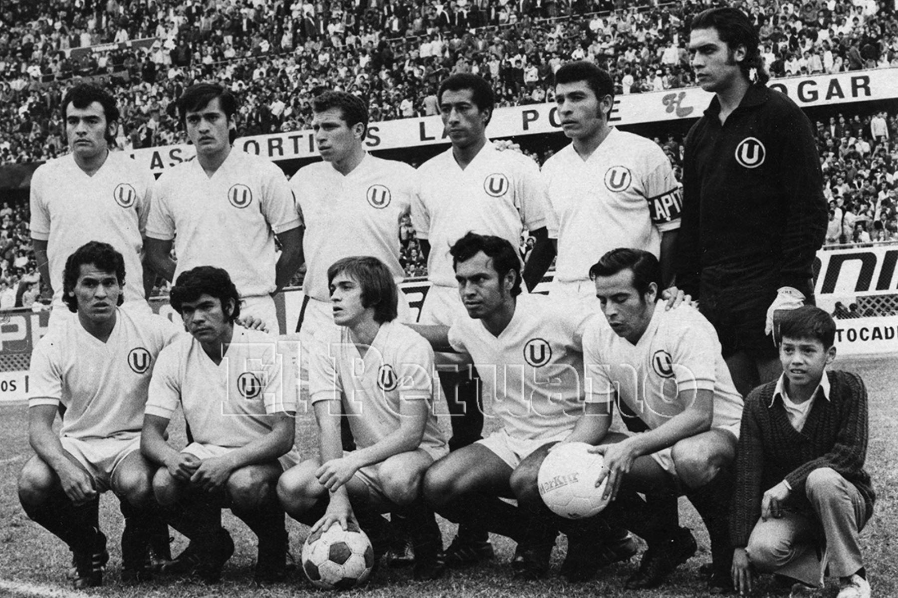 Formación de Universitario de Deportes que participó en la Copa Libertadores de América y en el torneo local de 1972. Foto: Archivo Histórico de EL PERUANO