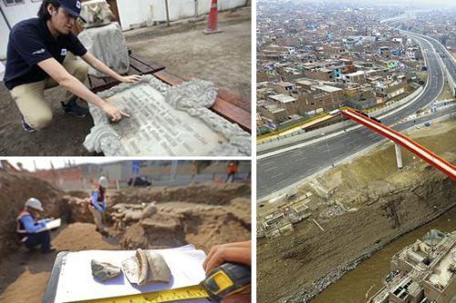Estos son algunos de los vestigios hallados en las excavaciones para la construcción de la obra Línea Amarilla. Foto: Andina
