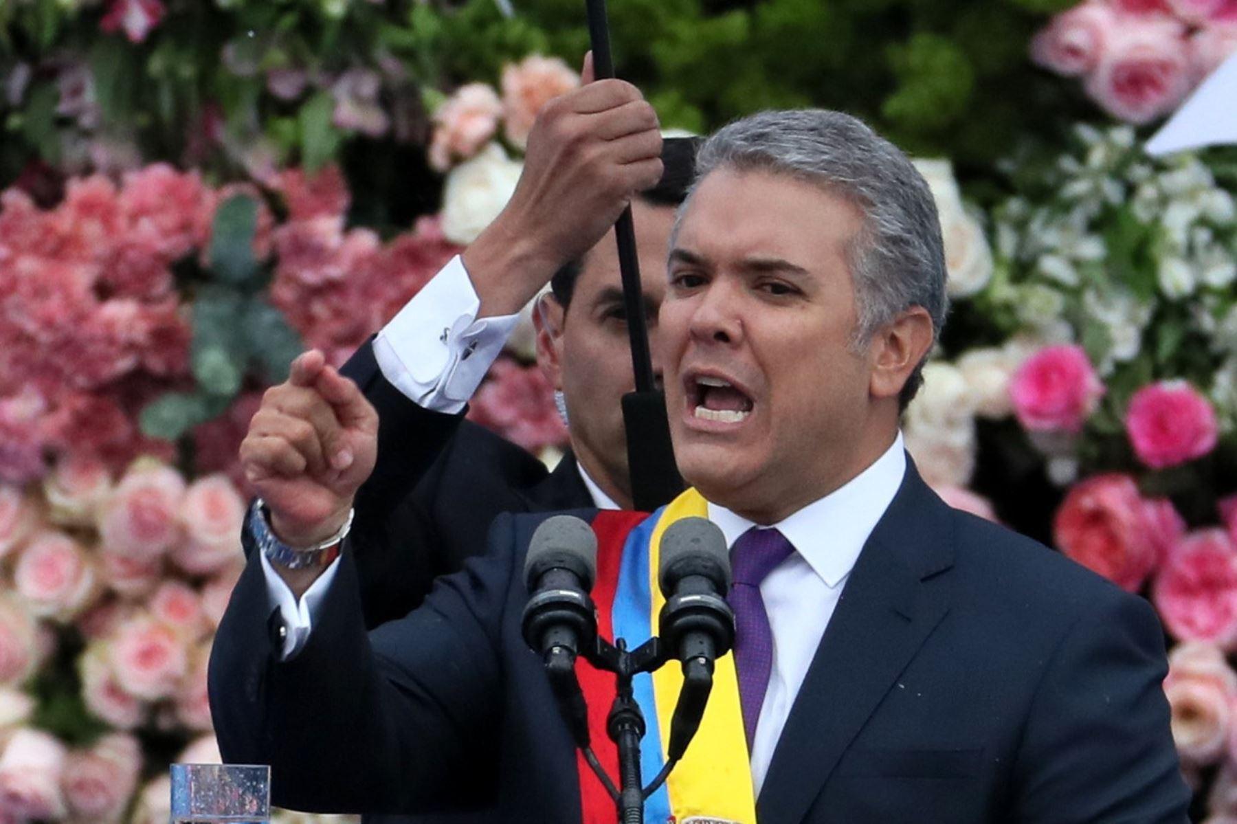 Presidente de Colombia, Iván Duque. Foto: EFE.