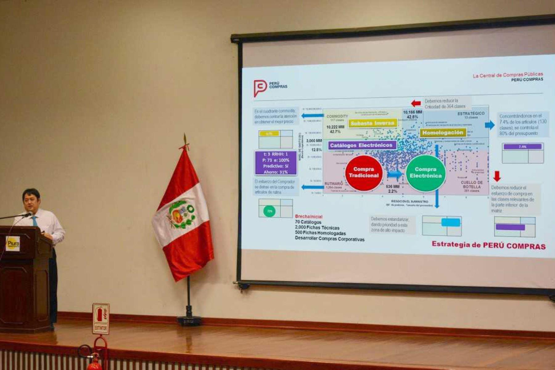 La región Piura ocupa el segundo lugar a escala nacional en compras de bienes, servicios y obras, registrando más de 2,176 procedimientos de selección adjudicados en el 2017, que representan S/ 1,764 millones, informó la Central de Compras Públicas-Perú Compras, entidad especializada en optimizar las contrataciones del Estado.