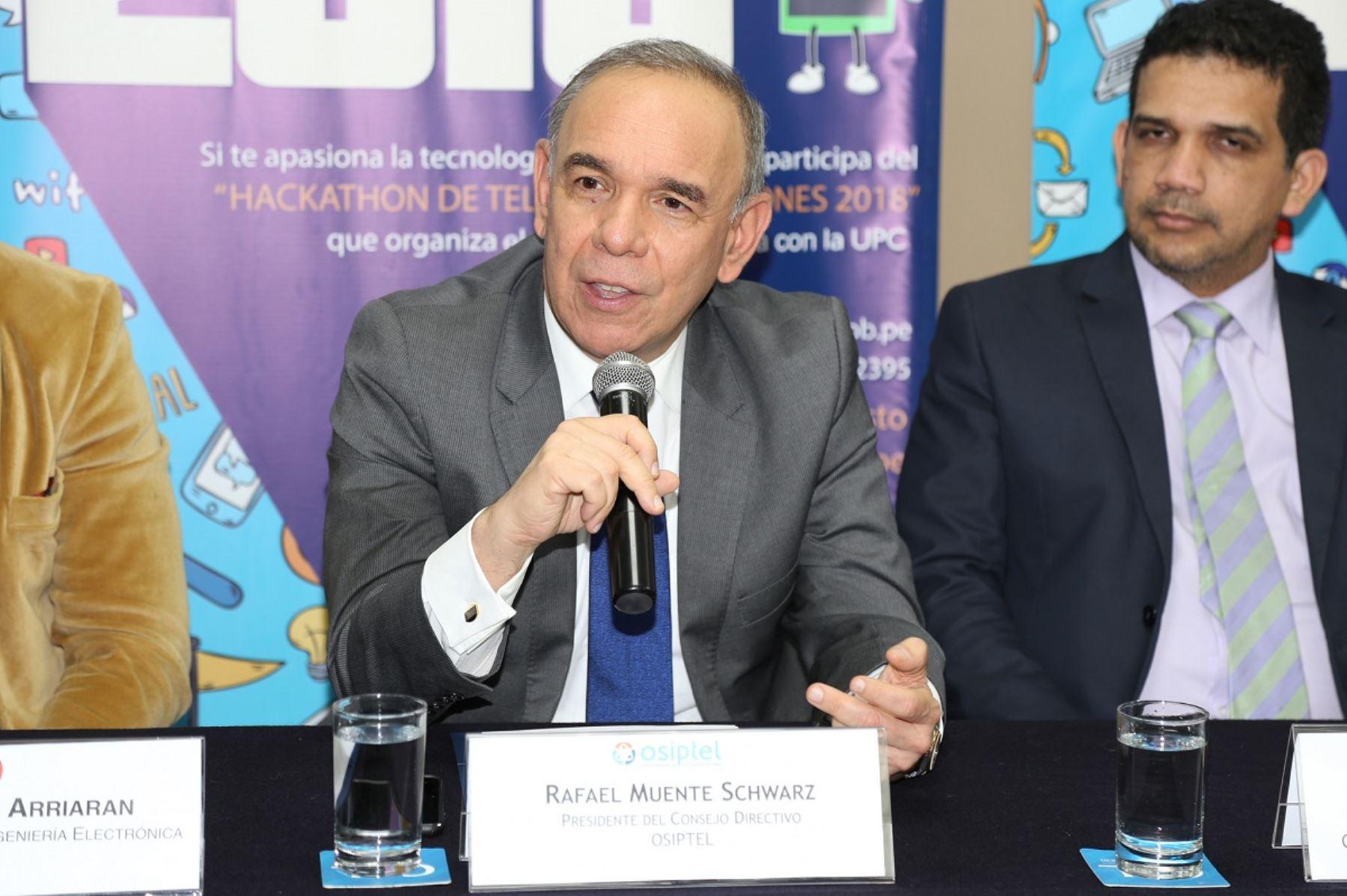 Presidente del Osiptel, Rafael Muente. Cortesía