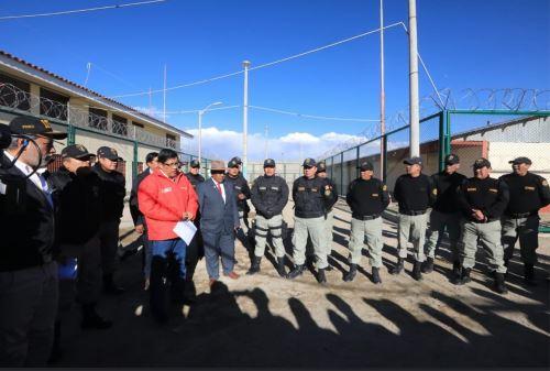 Ministro Vicente Zevallos supervisó protocolos de seguridad del penal,  Challapalca, a más de 5000 m.s.n.m.