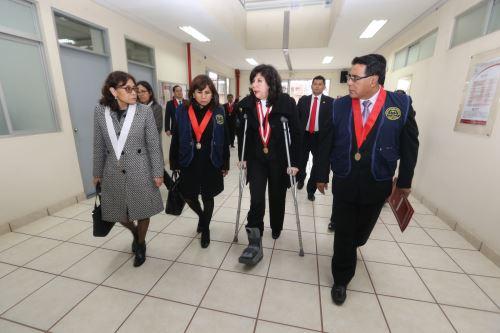 La jueza suprema Janet Tello Gilardiue designada para la visita a la CSJ de Lima Sur