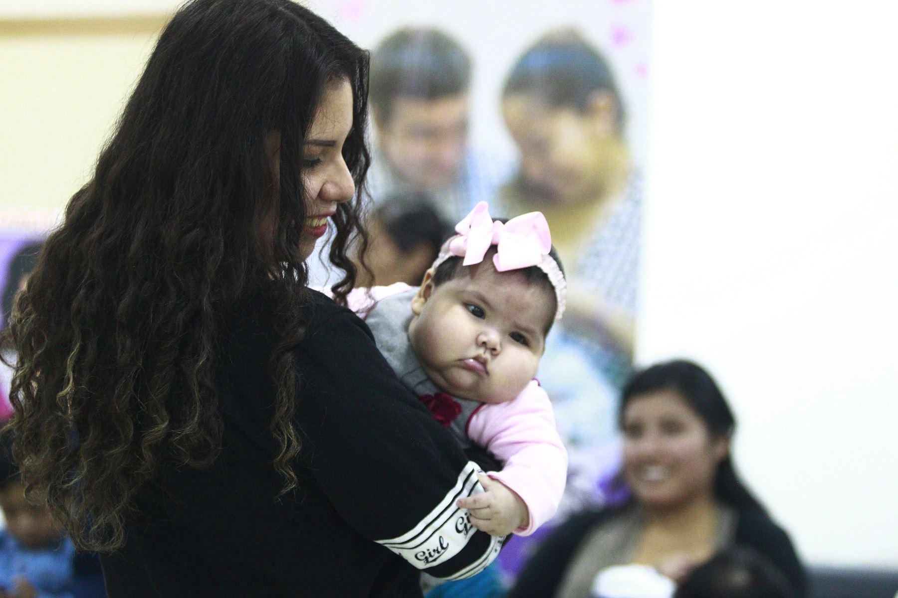 El Instituto Nacional Materno Perinatal ( INMP) presenta el circuito de preparación de la gestante para la lactancia materna , en el marco de la Semana de la Lactancia Materna en el Perú.Foto: ANDINA/Eddy Ramos