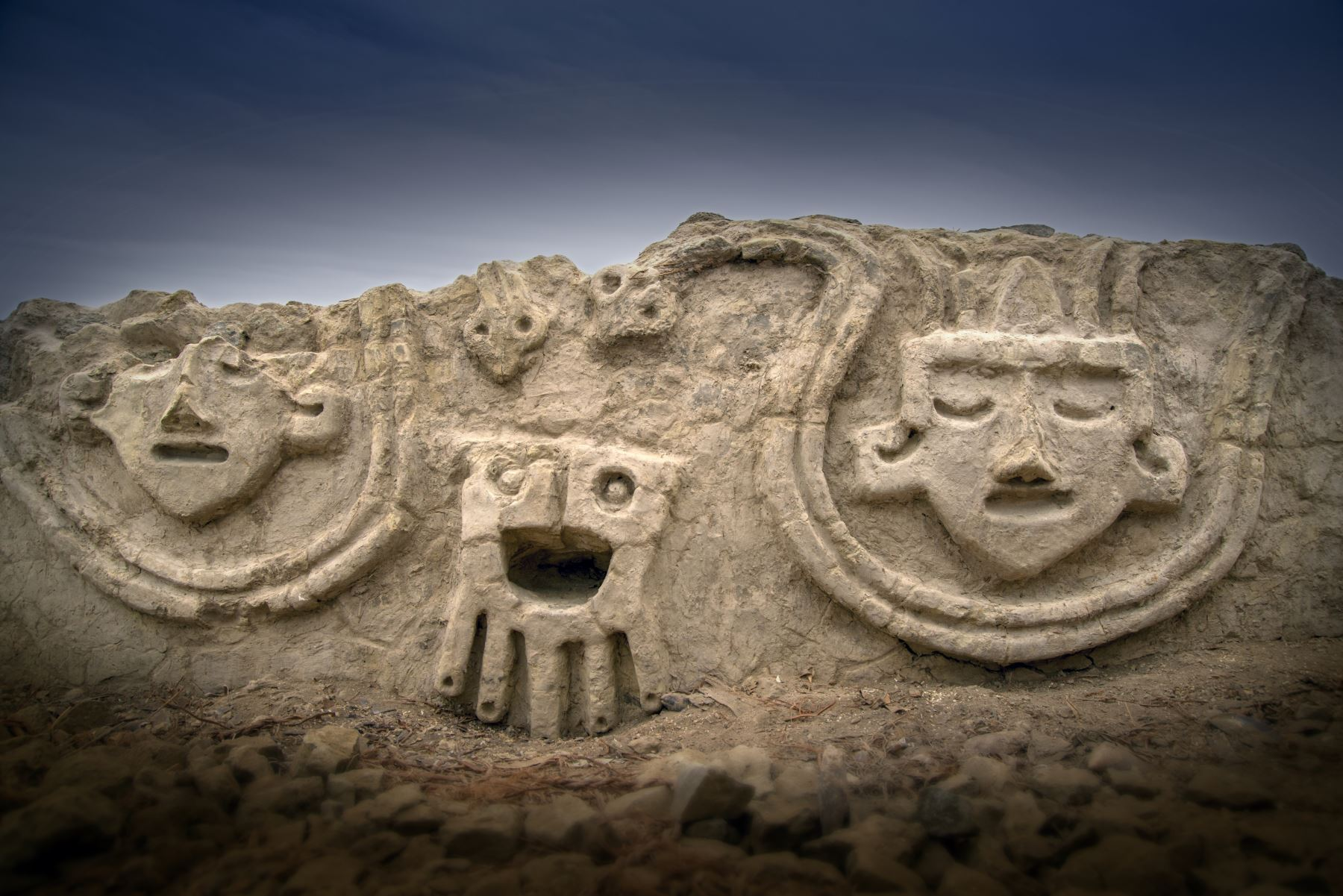 Descubren relieves en Vichama de 3,800 años de antigüedad. ANDINA/Difusión