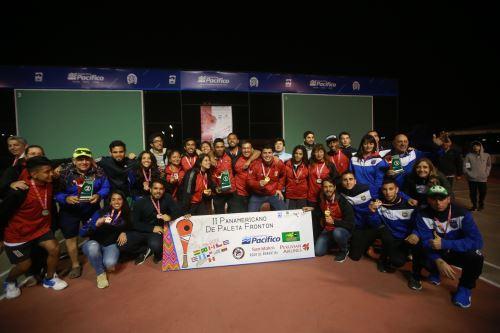 Final del  II Torneo Panamericano de Paleta Frontón Lima 2018