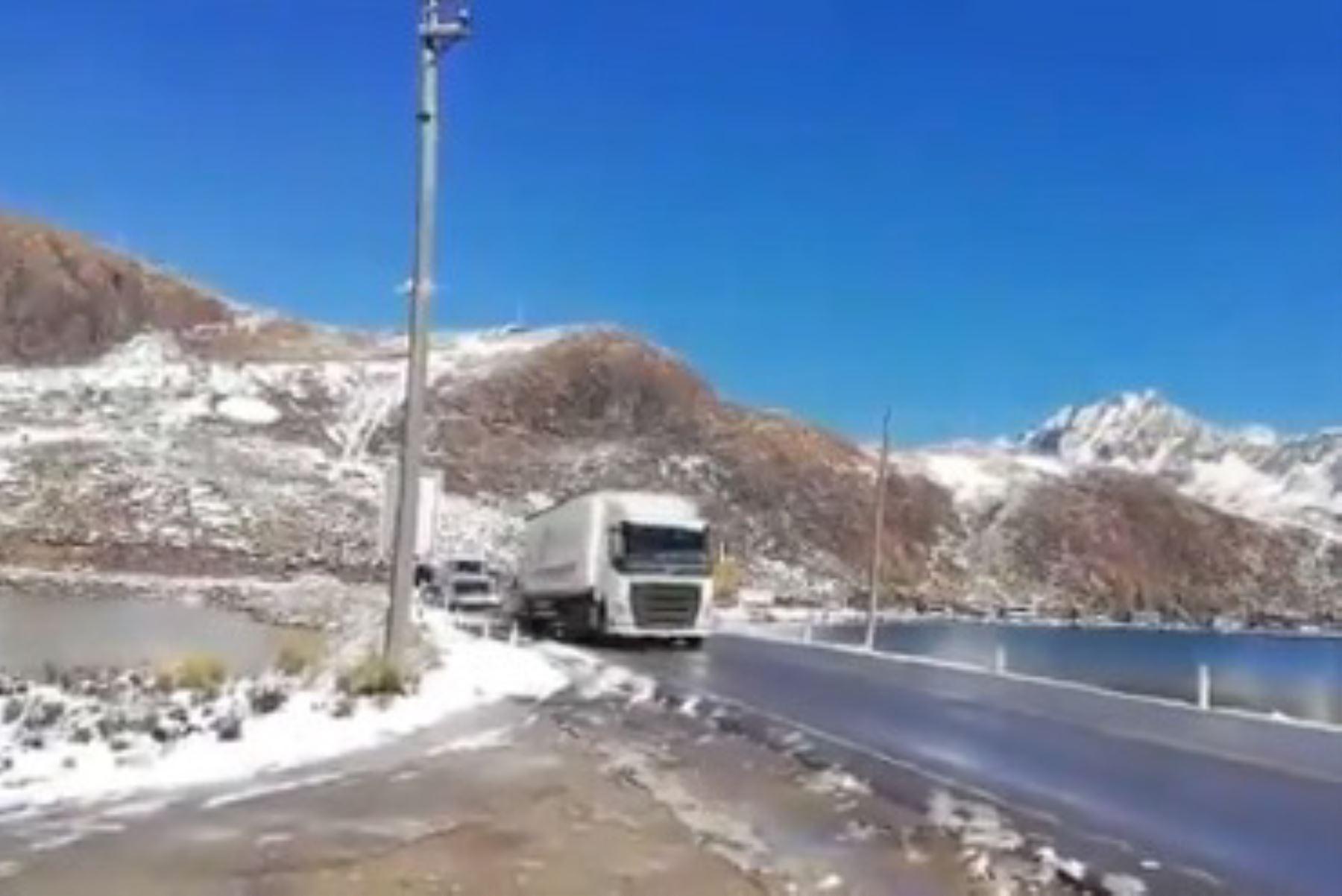 Carretera Central: se restablece el tránsito vehicular en la zona de Ticlio