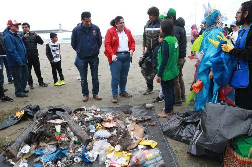 Ministra Fabiola Muñoz inició campaña ECO IPD por el cuidado del medio ambiente, en la Costa Verde