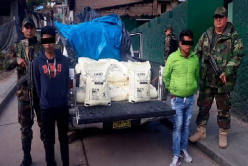 Vraem: decomisan una tonelada de insumos químicos fiscalizados