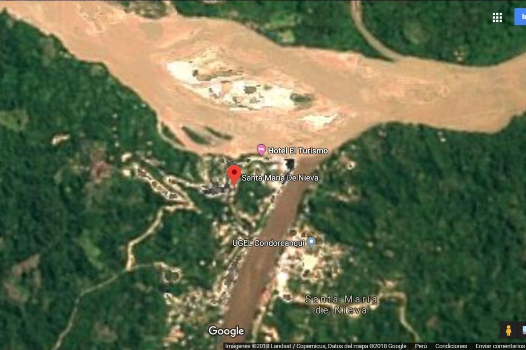 Santa María de Nieva, en Amazonas, fue afectado por un sismo.