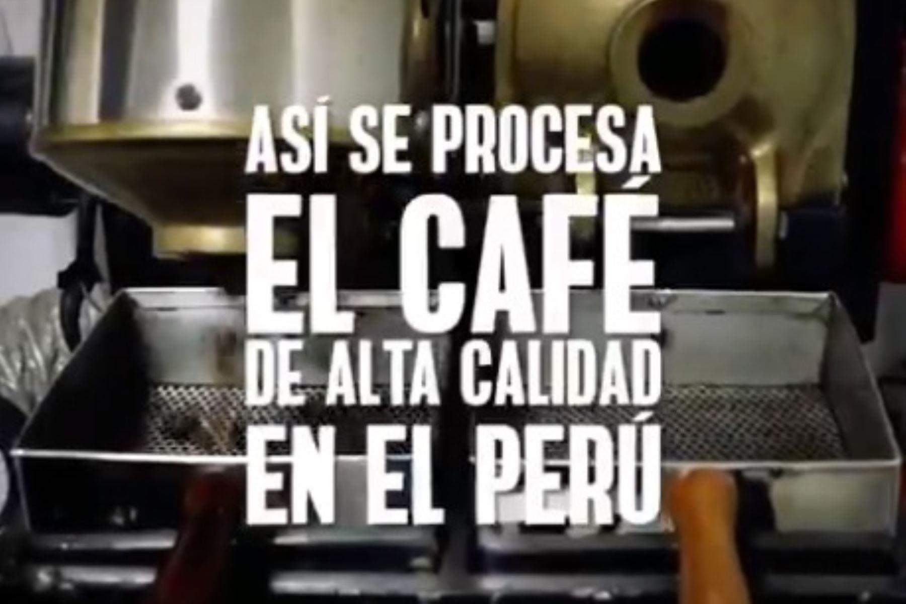 Así se procesa el café peruano.