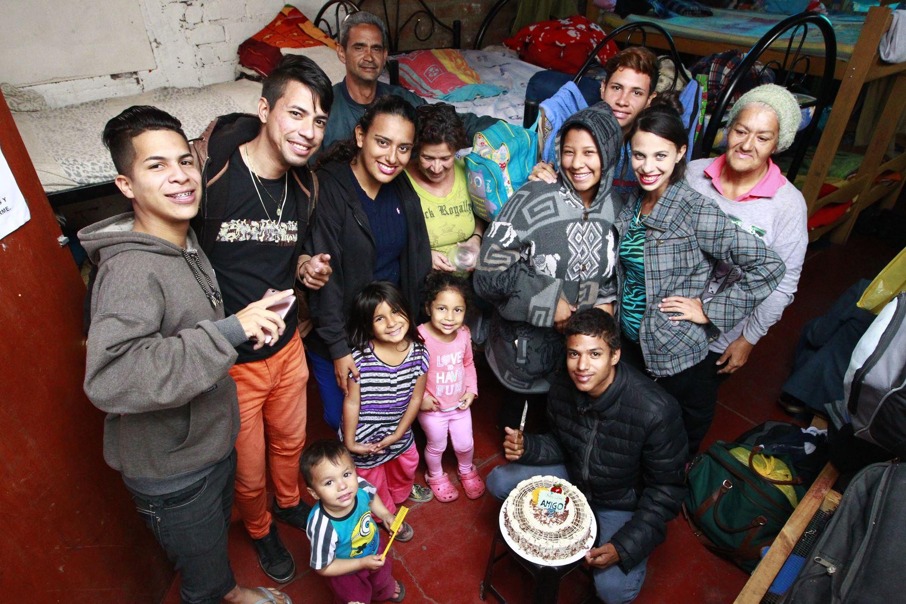 Venezolanos albergados en San Juan de Lurigancho. Foto: ANDINA/Eddy Ramos.