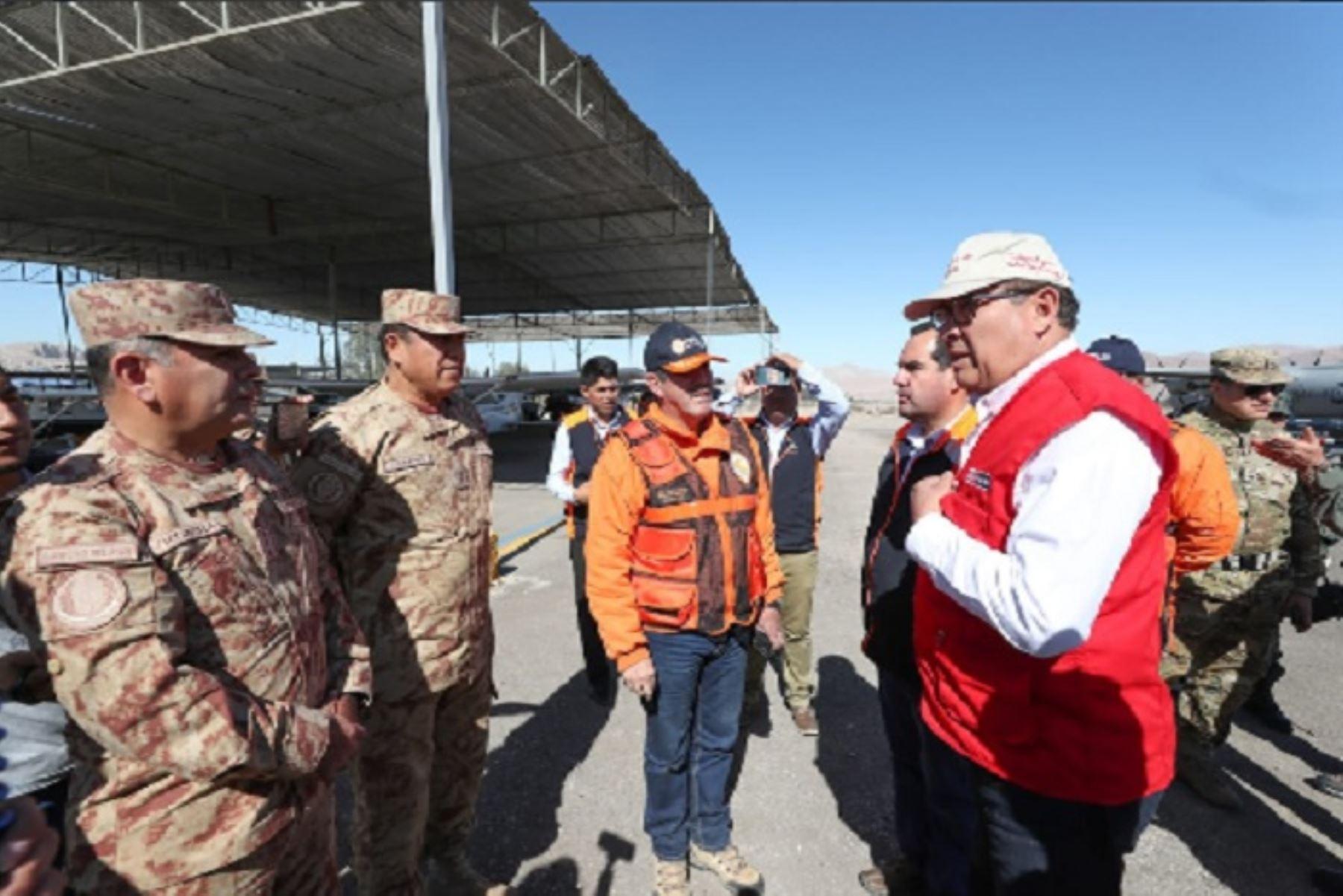El ministro de Defensa, José Huerta,supervisará en la región Moquegua la ejecución del Simulacro Multipeligro 2018 que se desarrollará esta tarde, de manera simultánea, en diversas regiones del país.