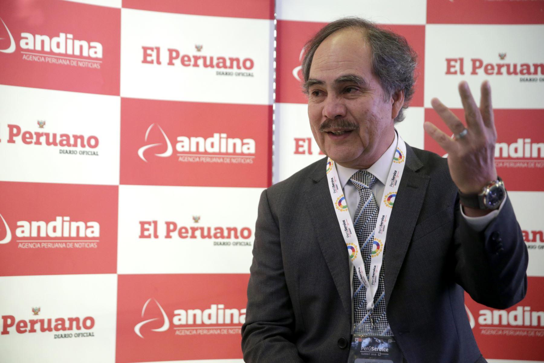 Presidente de Adex, Juan Varilias. Foto: ANDINA/Melina Mejía