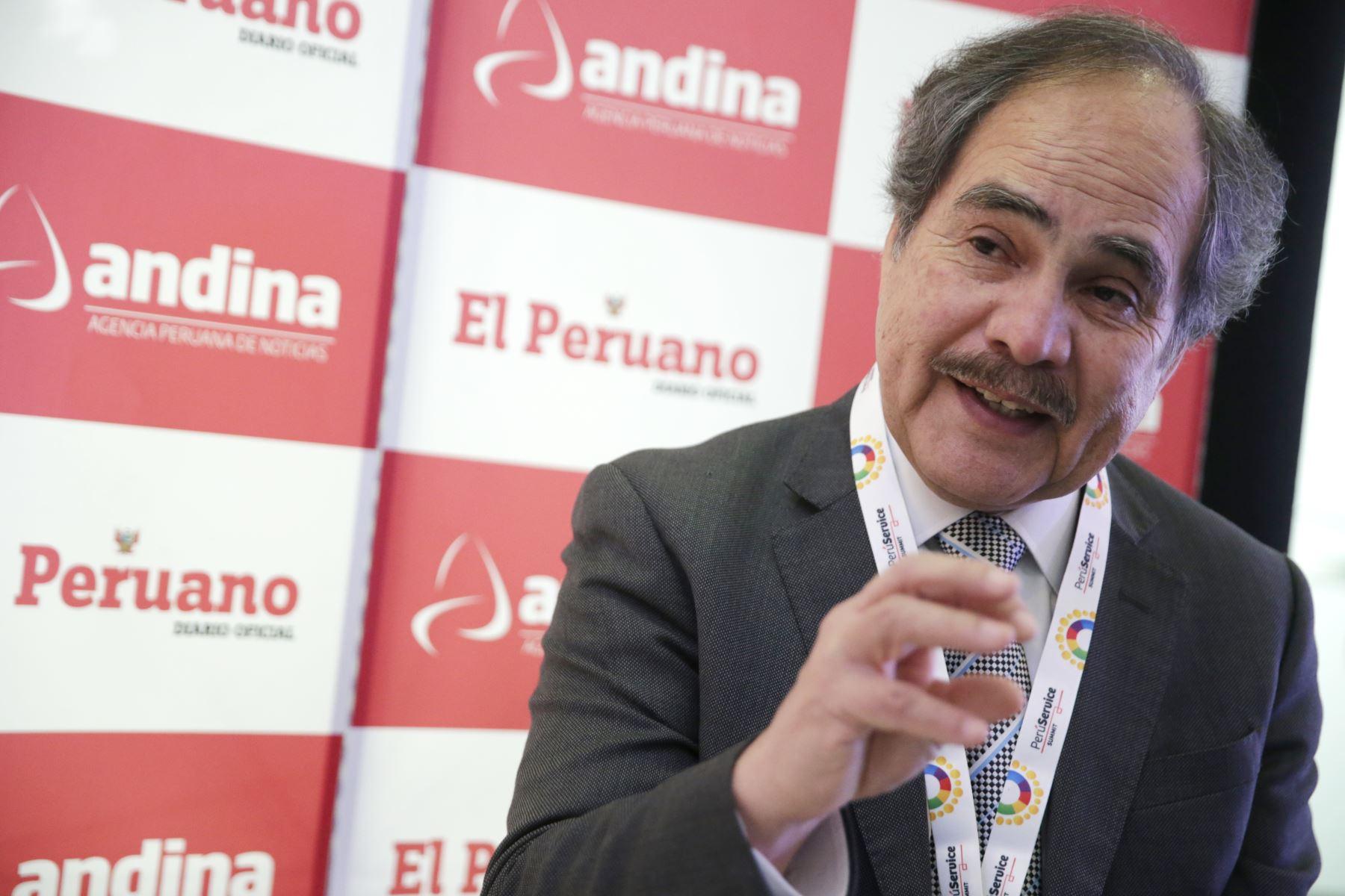 Presidente de Adex, Juan Varilias.Foto:  ANDINA/Melina Mejía.