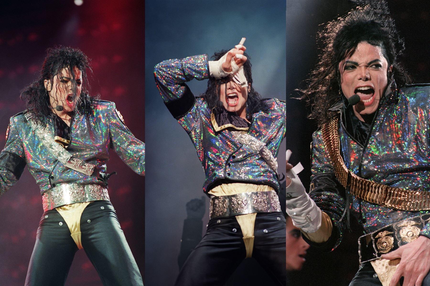 La estrella pop y artista estadounidense Michael Jackson se presenta durante un concierto en septiembre de 1992. Foto: AFP