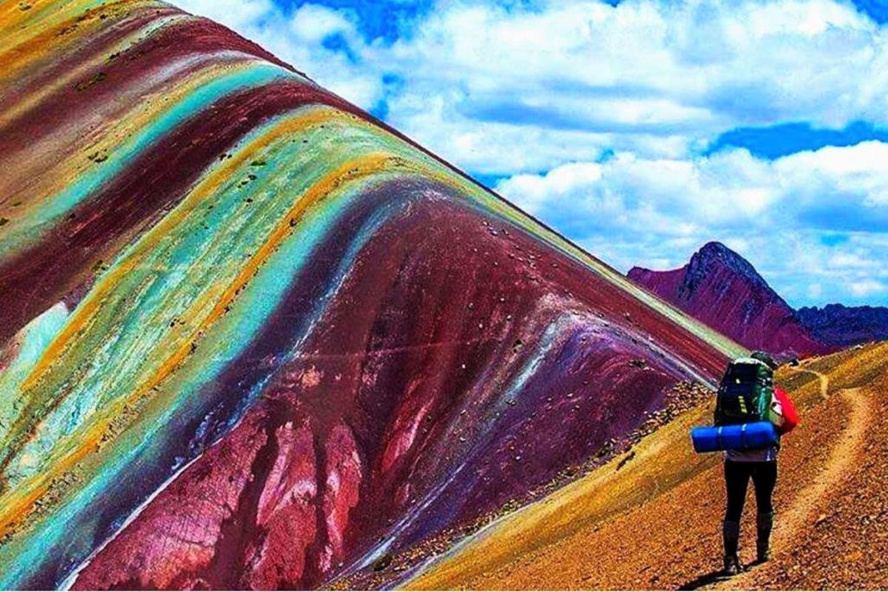 Montaña Vinicunca camino a convertirse en segundo destino turístico de Cusco. INTERNET/Medios
