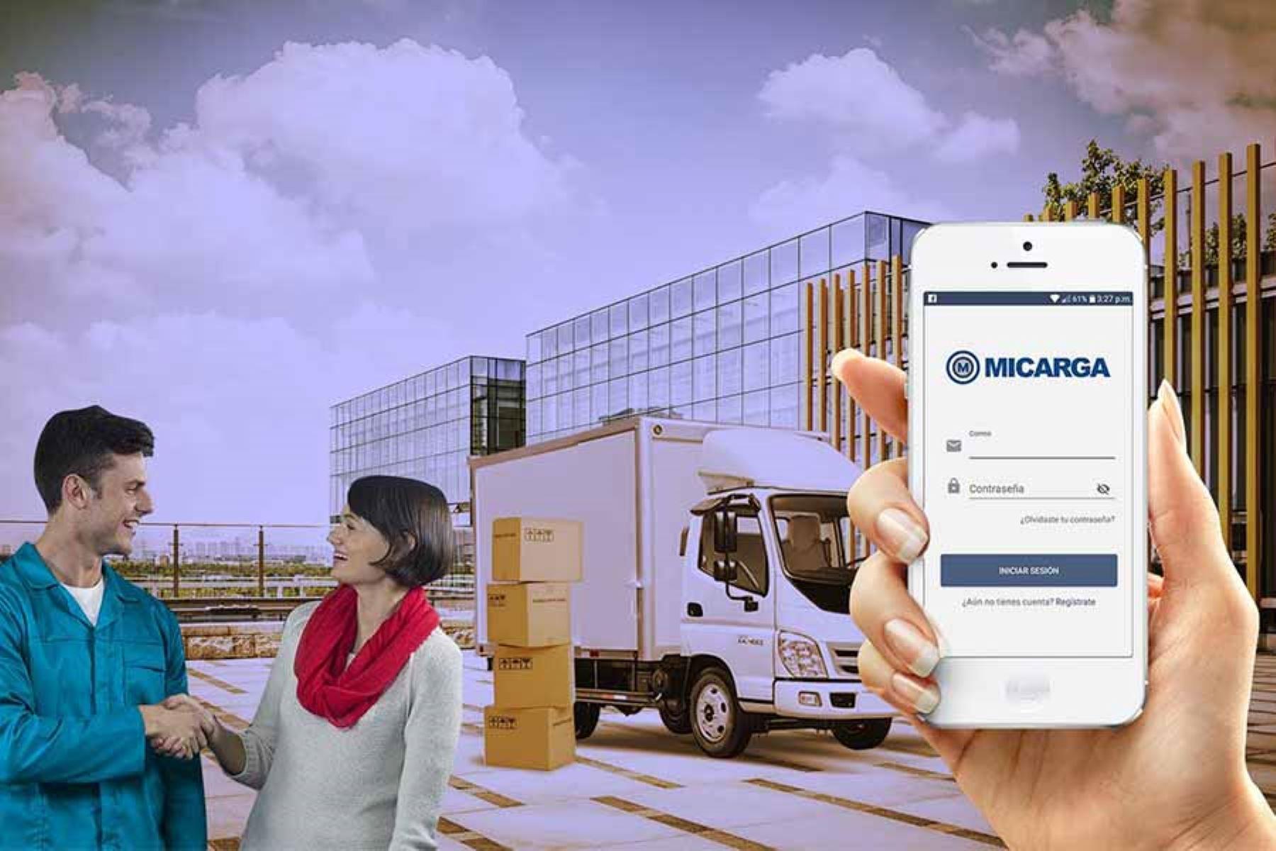 La app Micarga conecta a usuarios con empresas de transporte que requieran enviar cargas desde una tonelada.