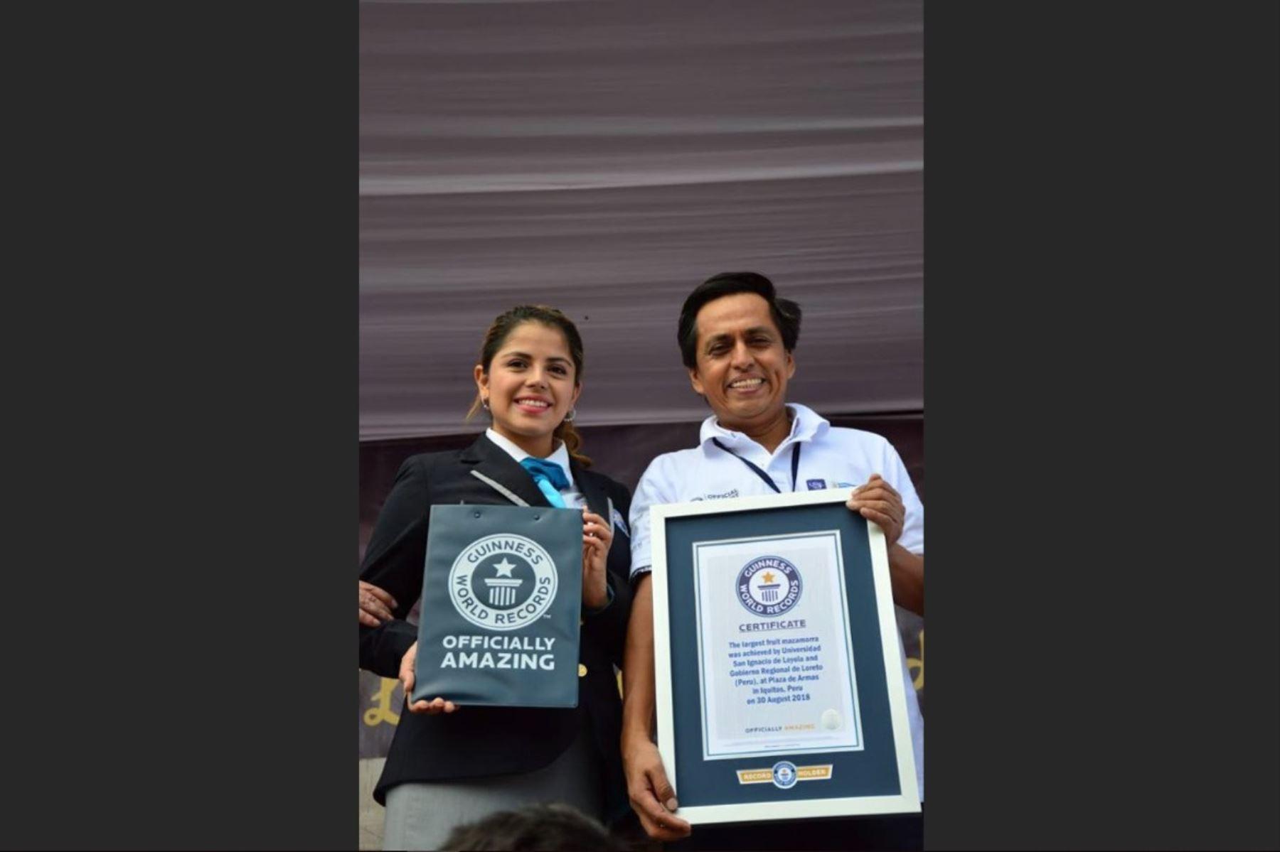 Loreto obtiene Récord Guinness al preparar 751 kg de mazamorra de aguaje. ANDINA/Difusión