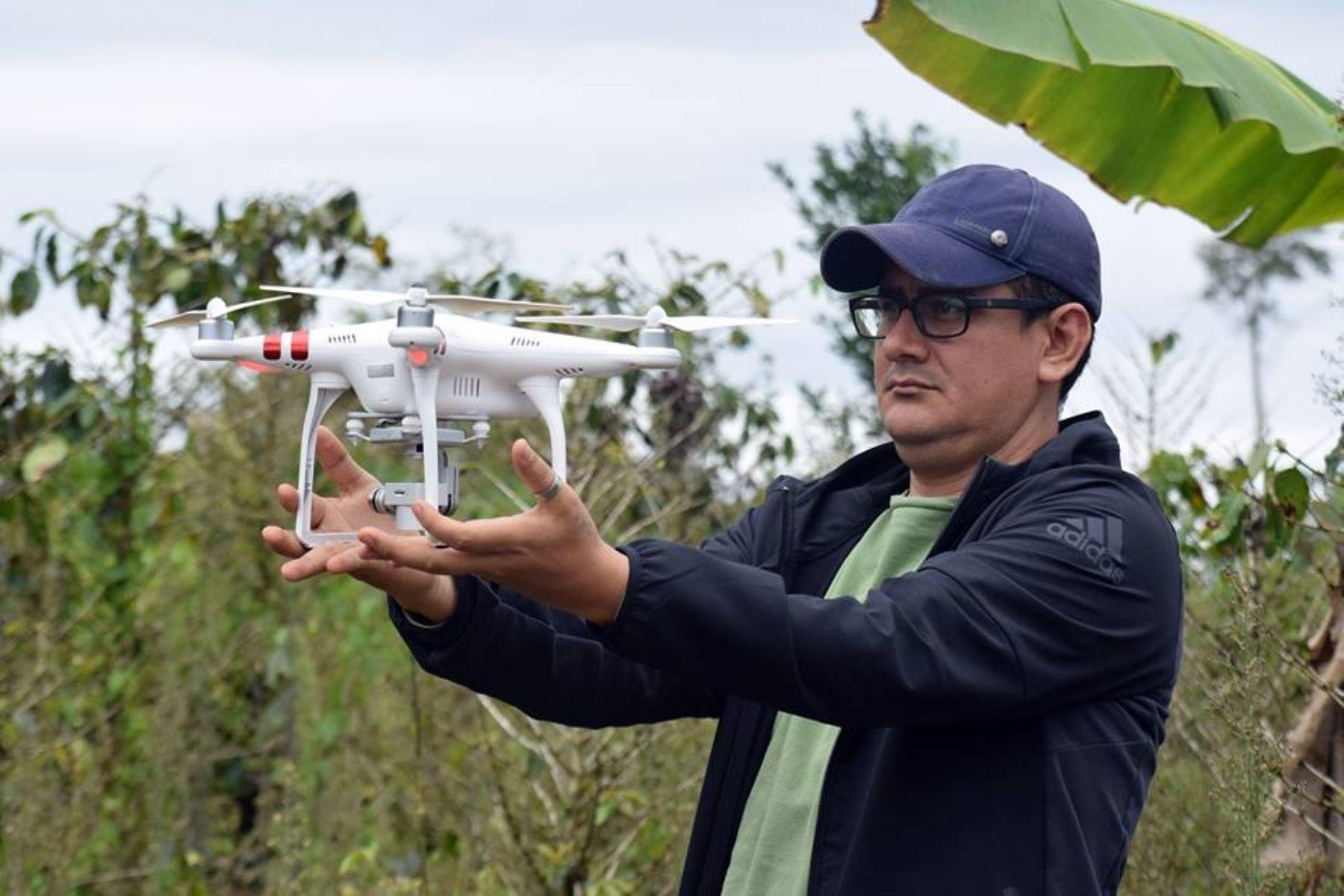 Con drones ejecutarán ordenamiento territorial agrario en San Martín, ANDINA