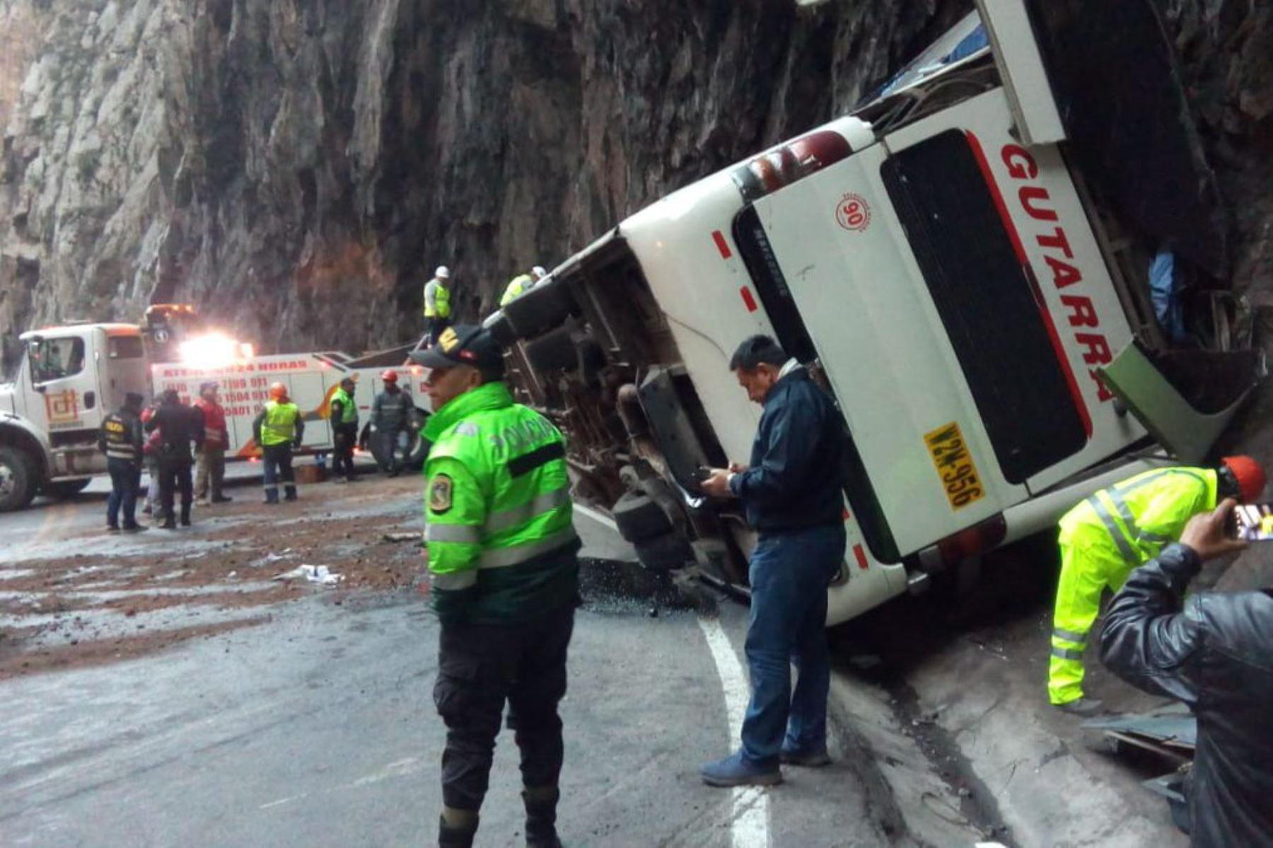 Trágico accidente en la carretera Central deja al menos tres muertos. ANDINA/Difusión