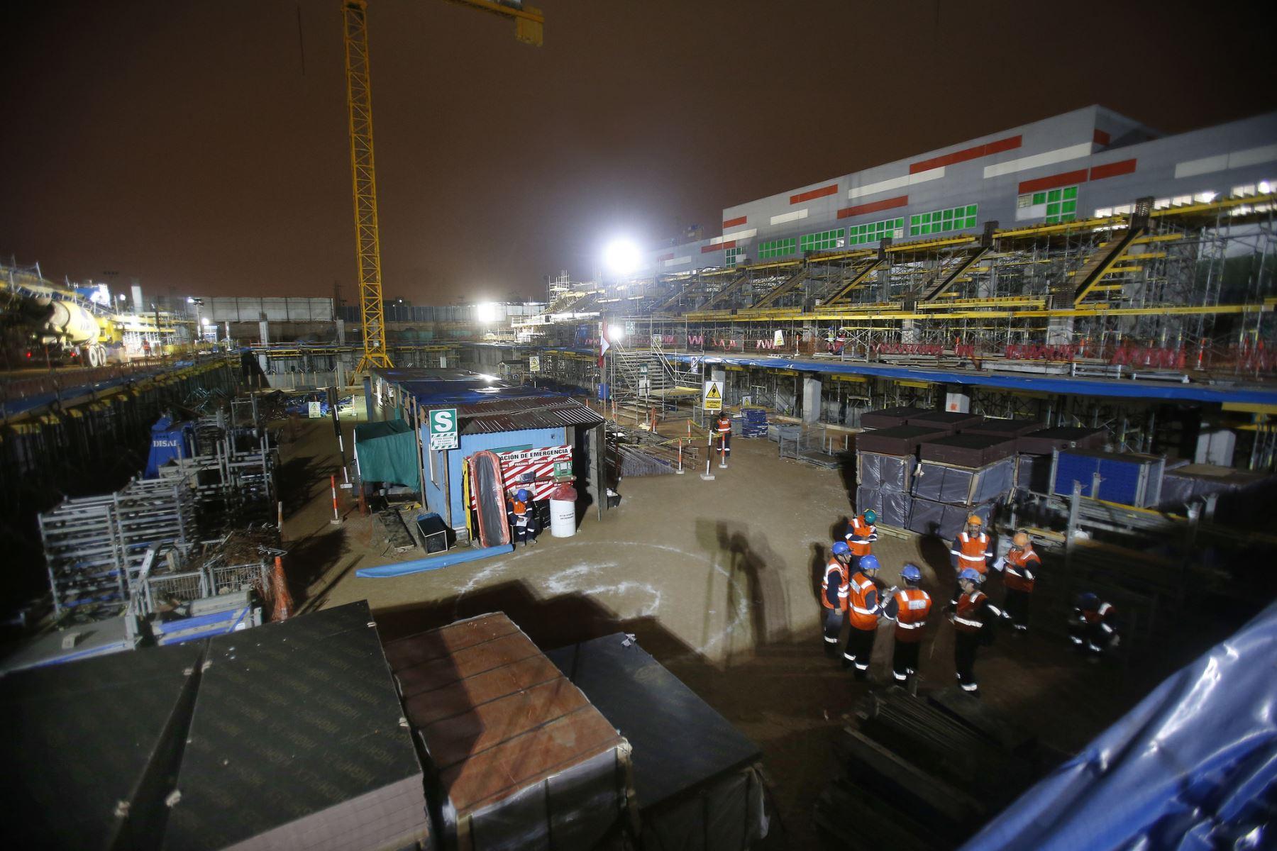 Obras en Villa Deportiva Nacional (Videna). Foto: ANDINA/Difusión