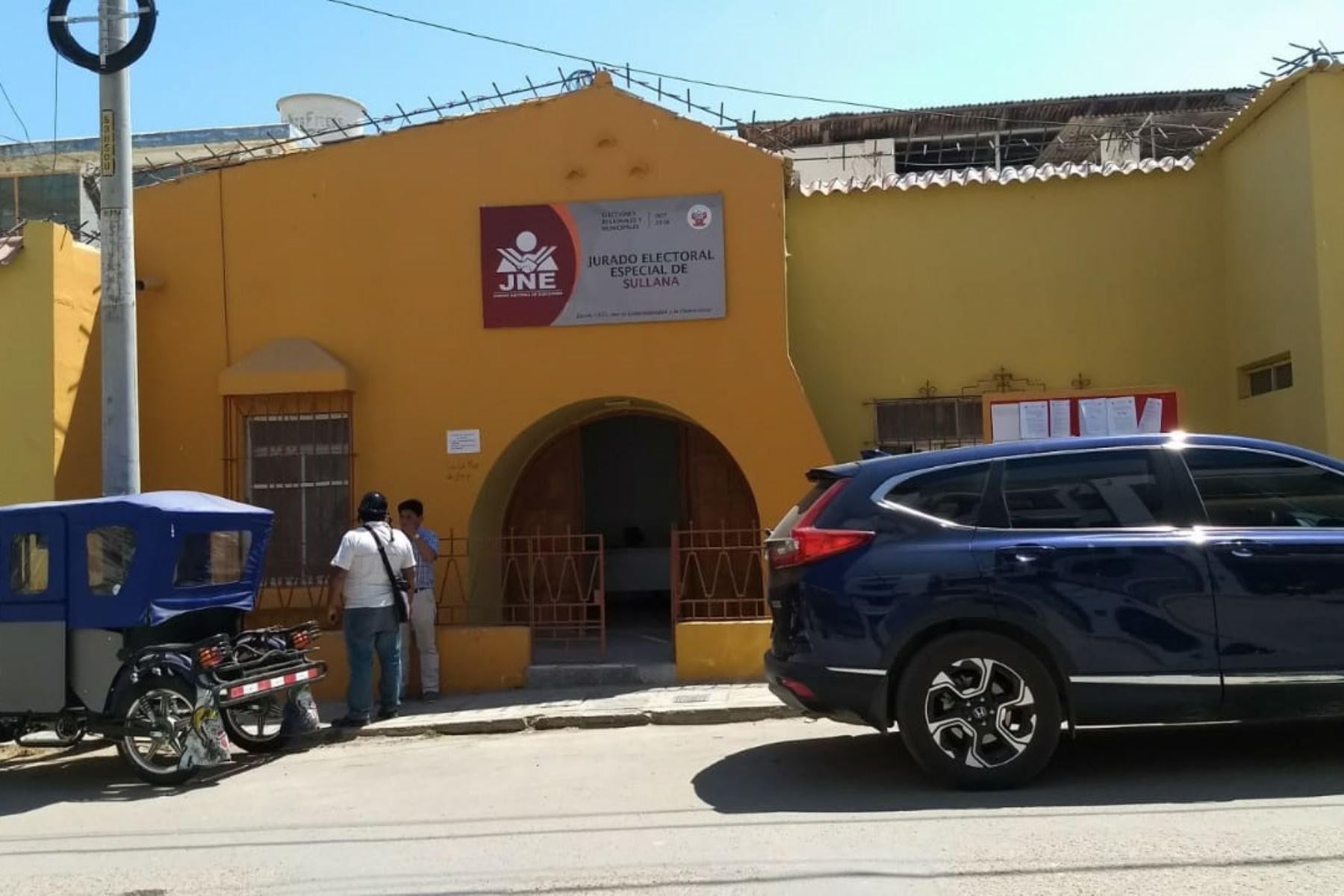 JEE entrega hoy credenciales a alcaldes electos de Sullana y Ayabaca. ANDINA