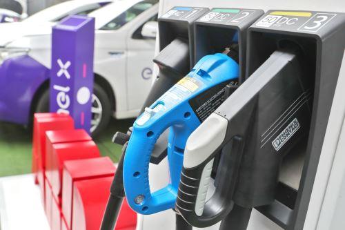 Estación de recarga para autos eléctricos. Foto: ANDINA/Difusión