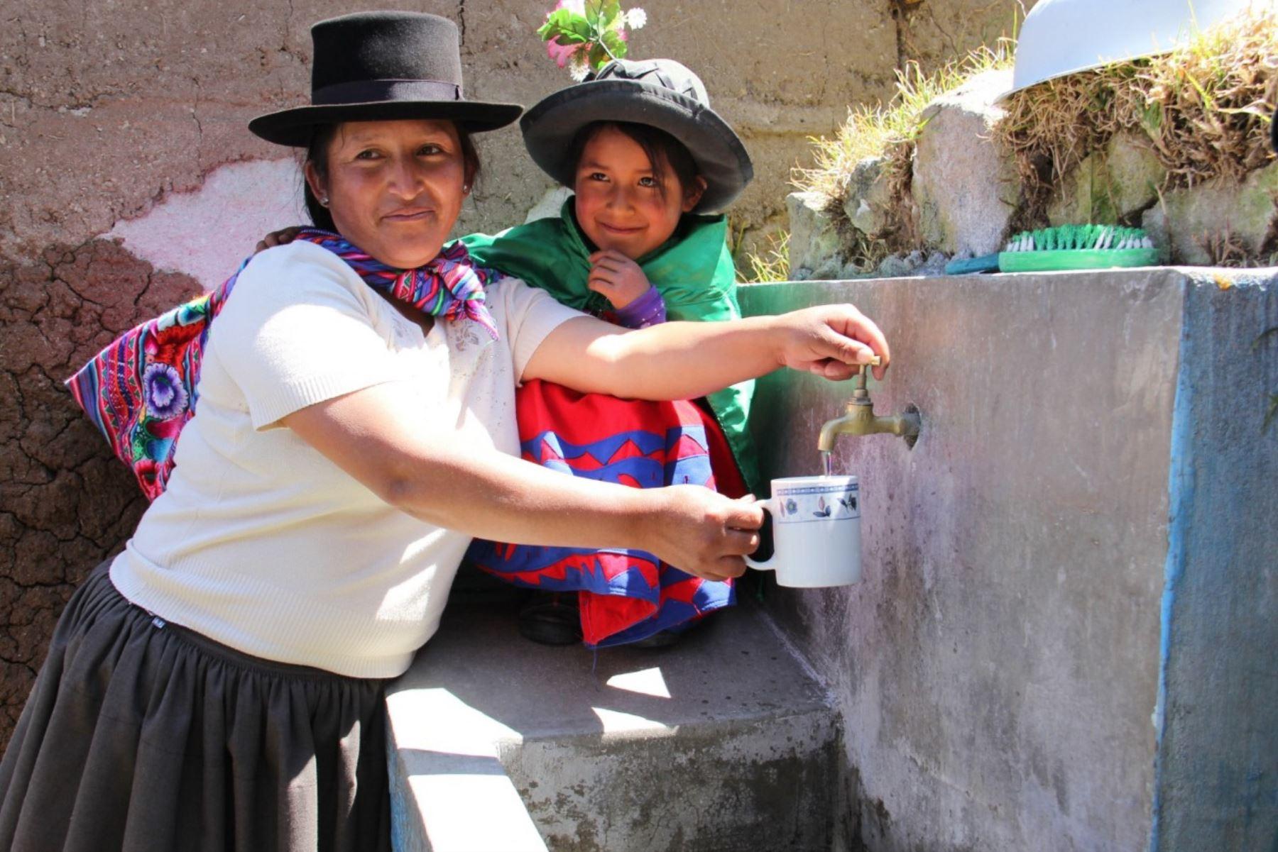 El proyecto Agua Más de Foncodes ejecutó las obras en nueve centros poblados de la región surandina de Ayacucho.