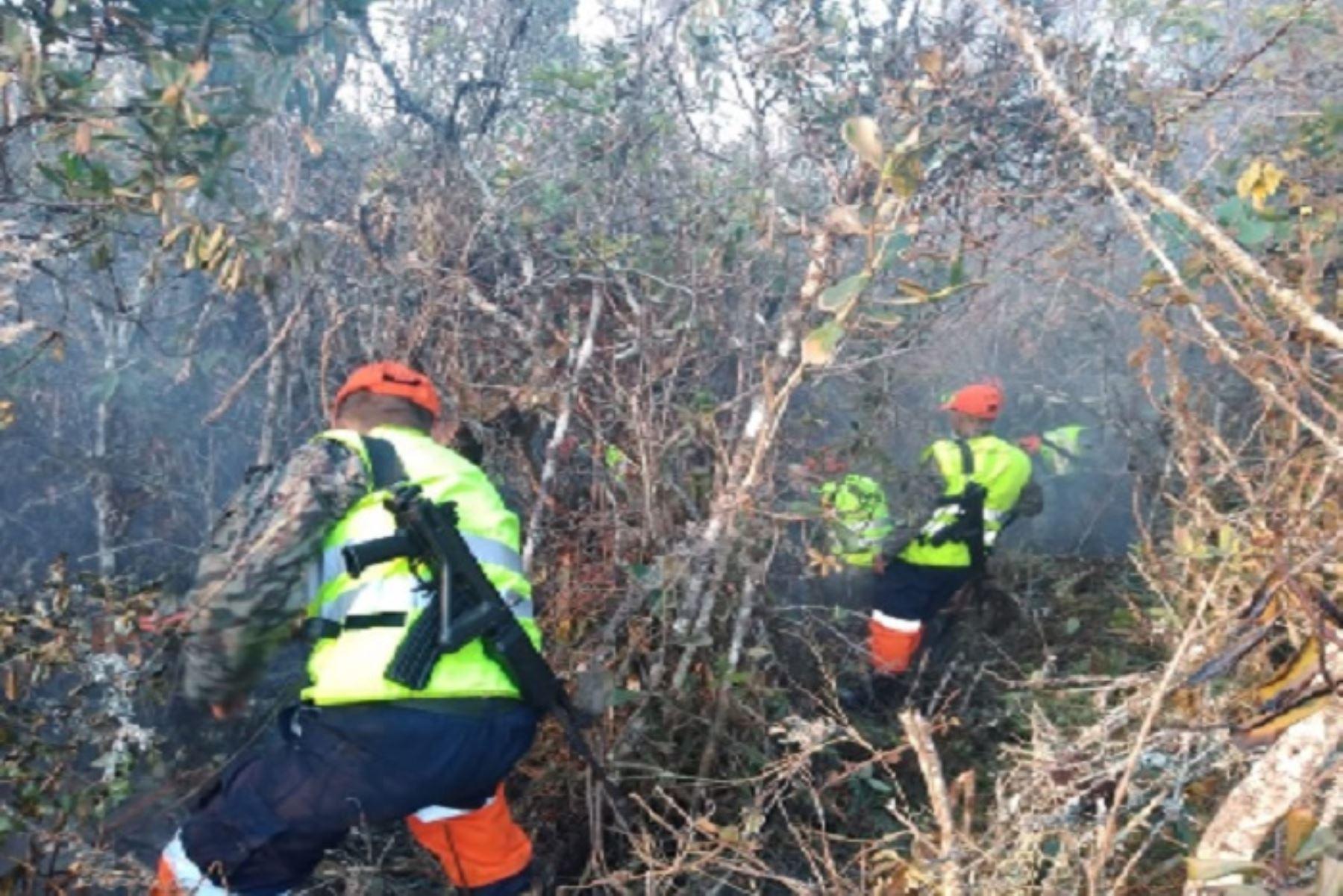 Personal del Ejército trabaja desde la madrugada en las labores de extinción del incendio forestal que anoche se reavivó cerca de la zona arqueológica de Kuélap, en el distrito de Tingo, provincia de Luya, región Amazonas, informó dicha institución al Centro de Operaciones de Emergencia Nacional (COEN) del Ministerio de Defensa.