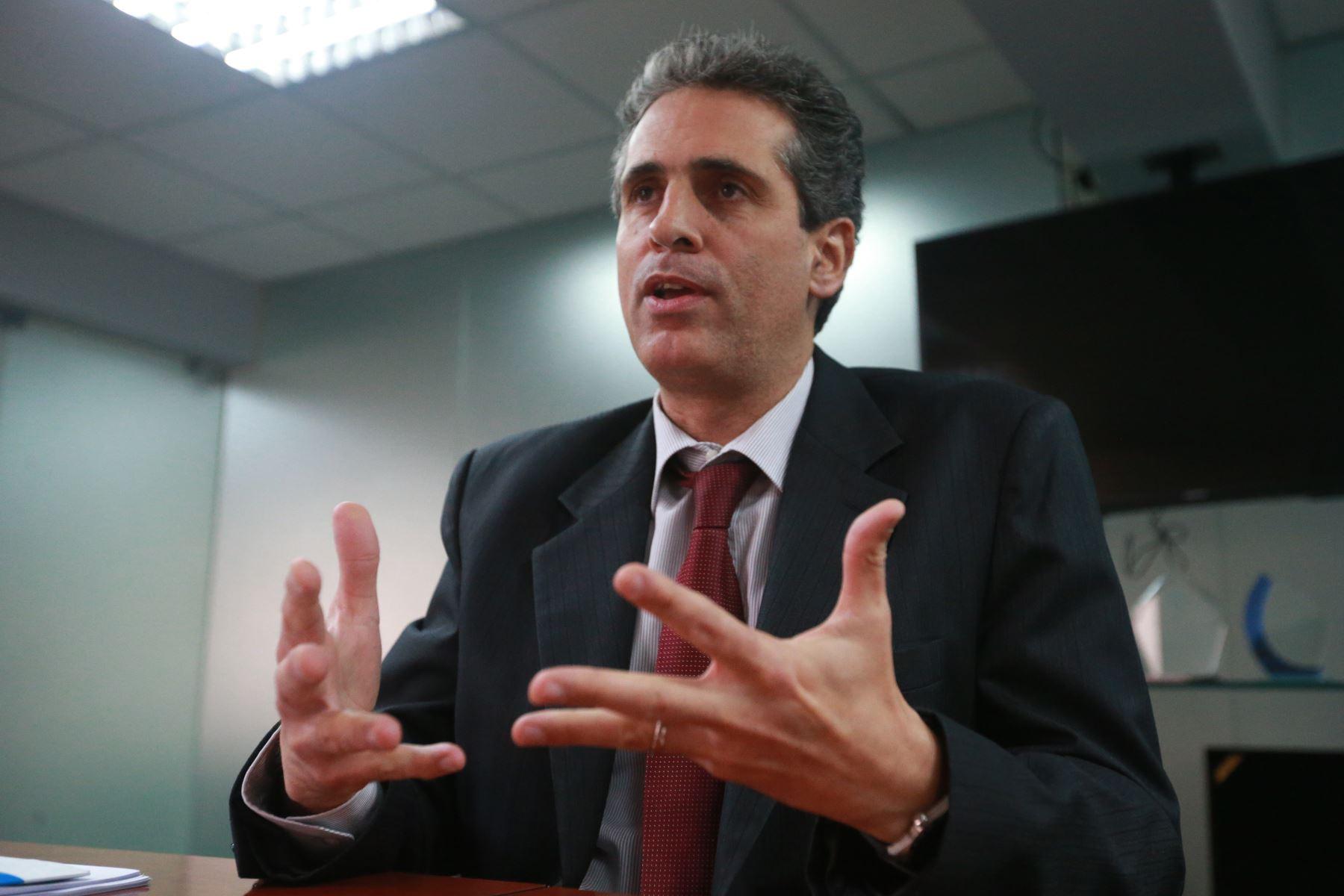 Presidente de Sunass, Iván Lucich. ANDINA/Vidal Tarqui
