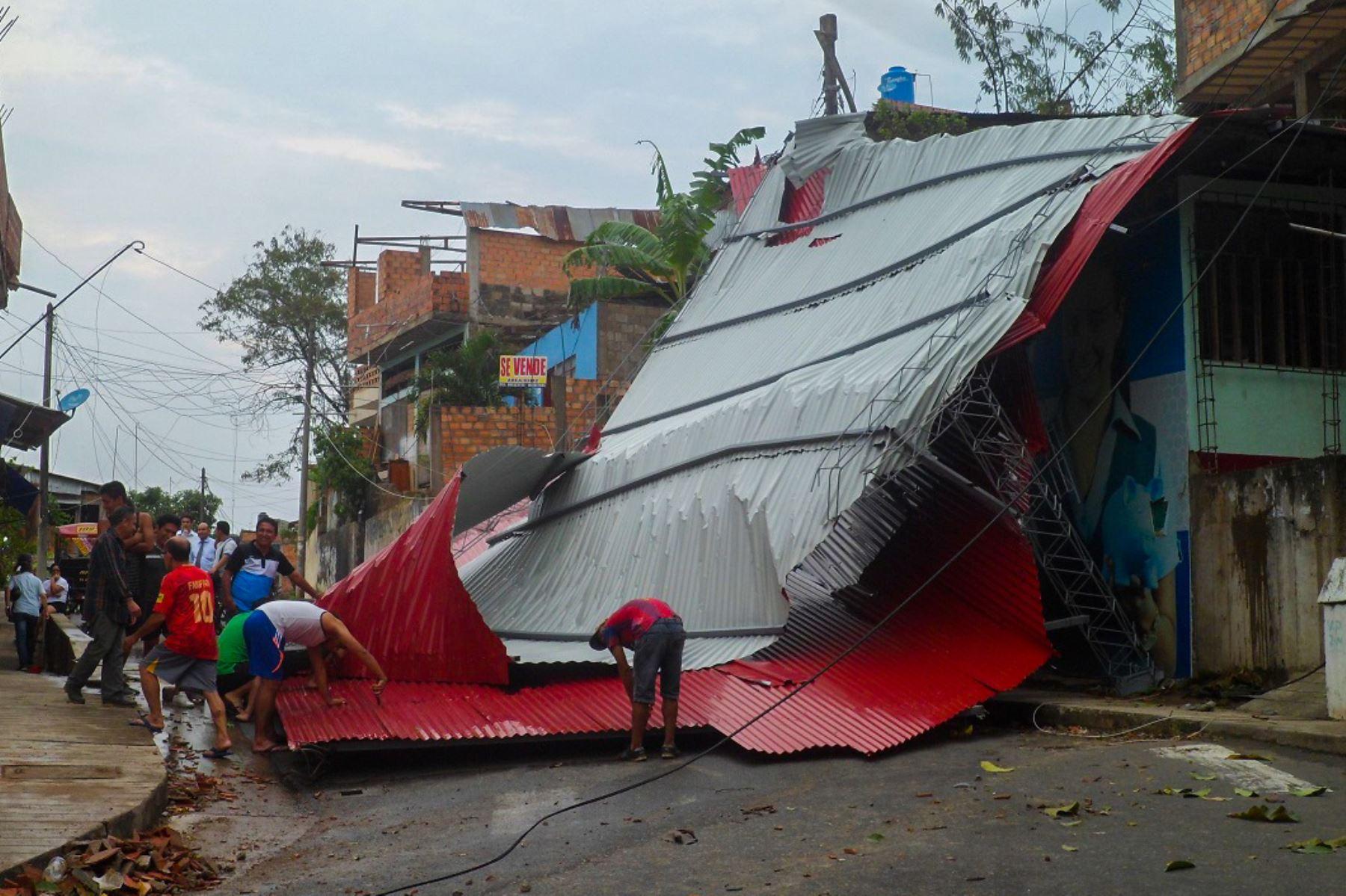 Fuerte calentamiento de temperatura en San Martín provocó vientos, lluvias y granizo en la región. ANDINA/Difusión